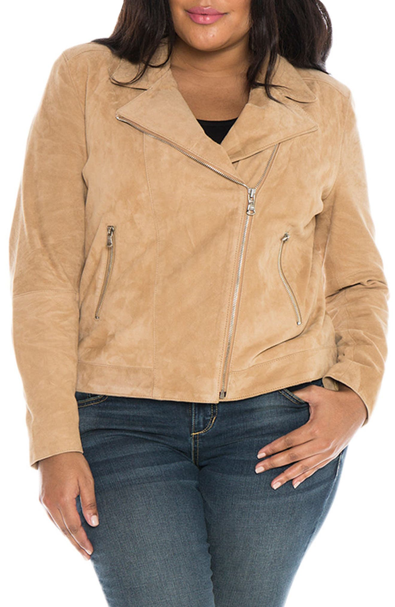 Canyon Suede Jacket,                             Main thumbnail 1, color,                             SAND