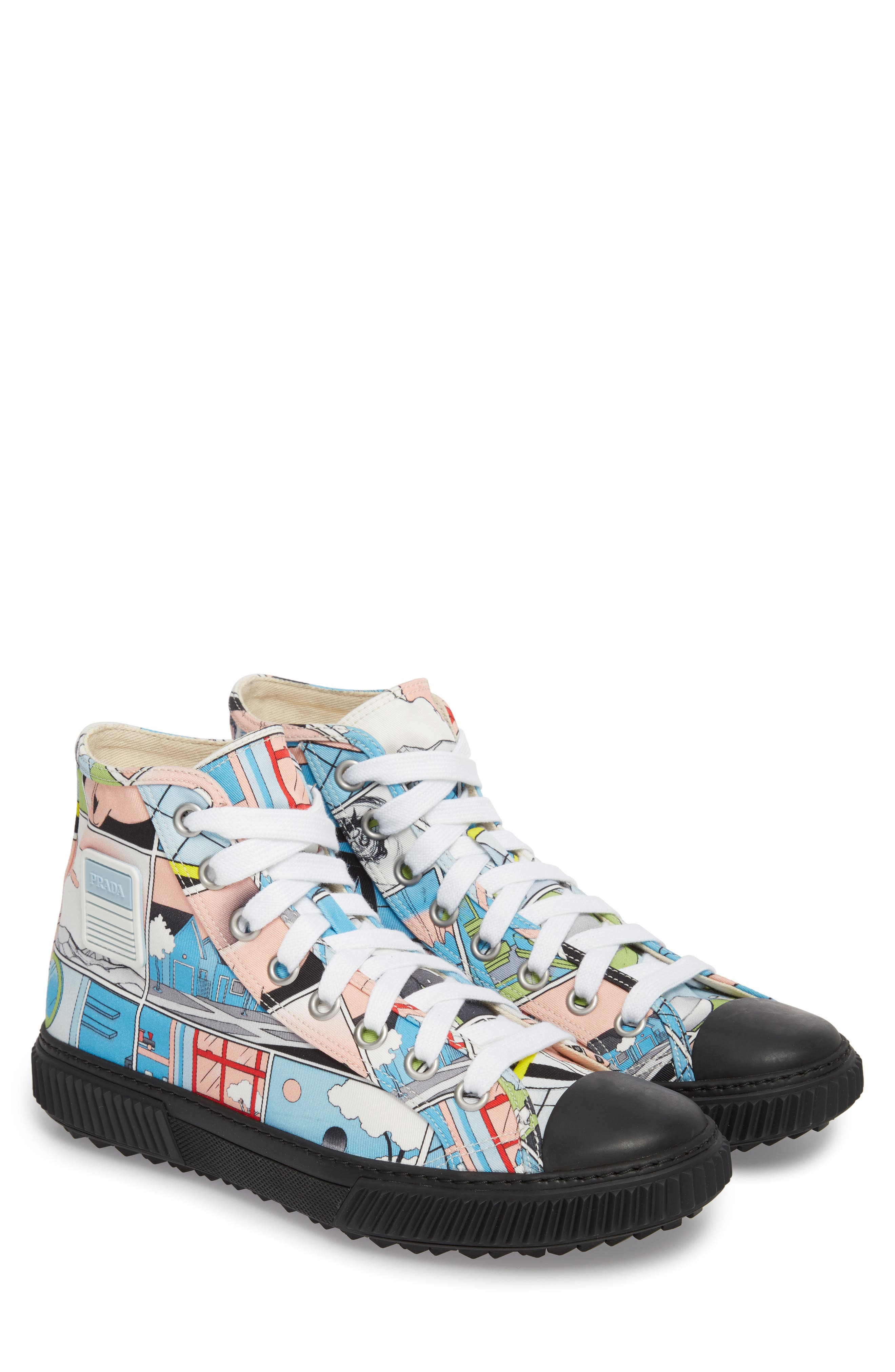 Comic Print High Top Sneaker,                             Alternate thumbnail 2, color,                             125