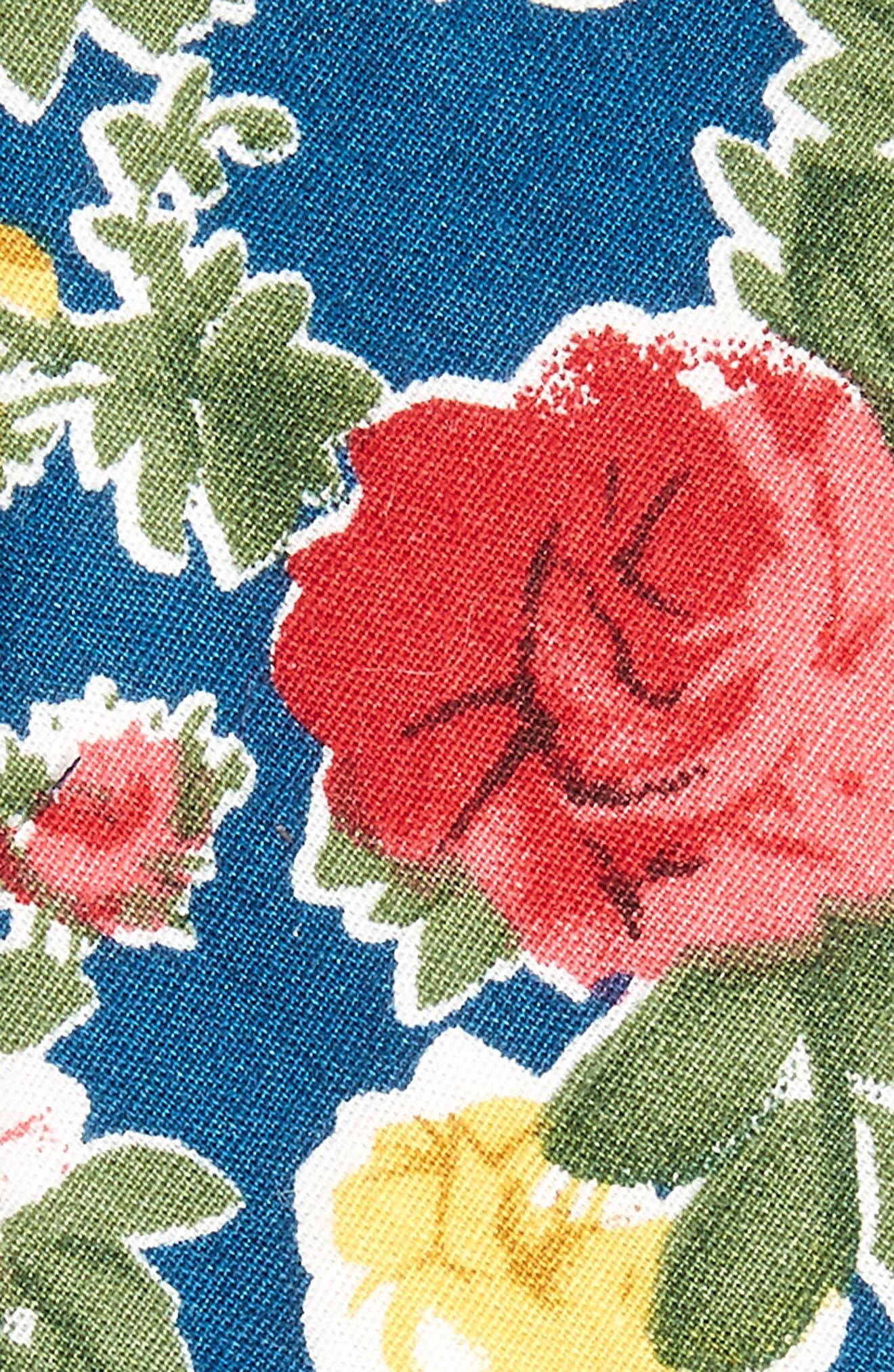 Iverson Floral Cotton Skinny Tie,                             Alternate thumbnail 4, color,