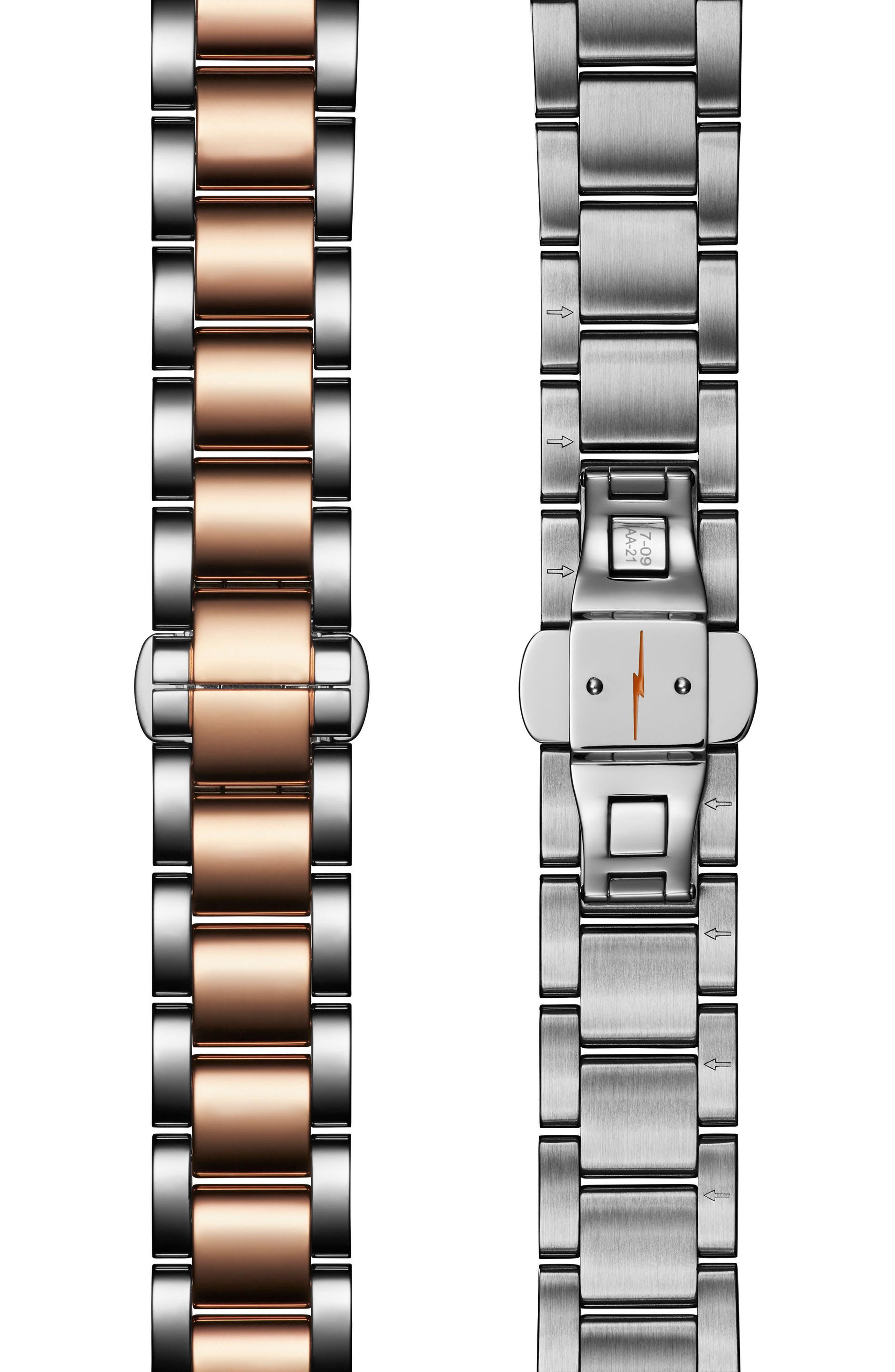 The Runwell Bracelet Watch, 36mm,                             Alternate thumbnail 3, color,                             ROSE GOLD/ WHITE/ SILVER