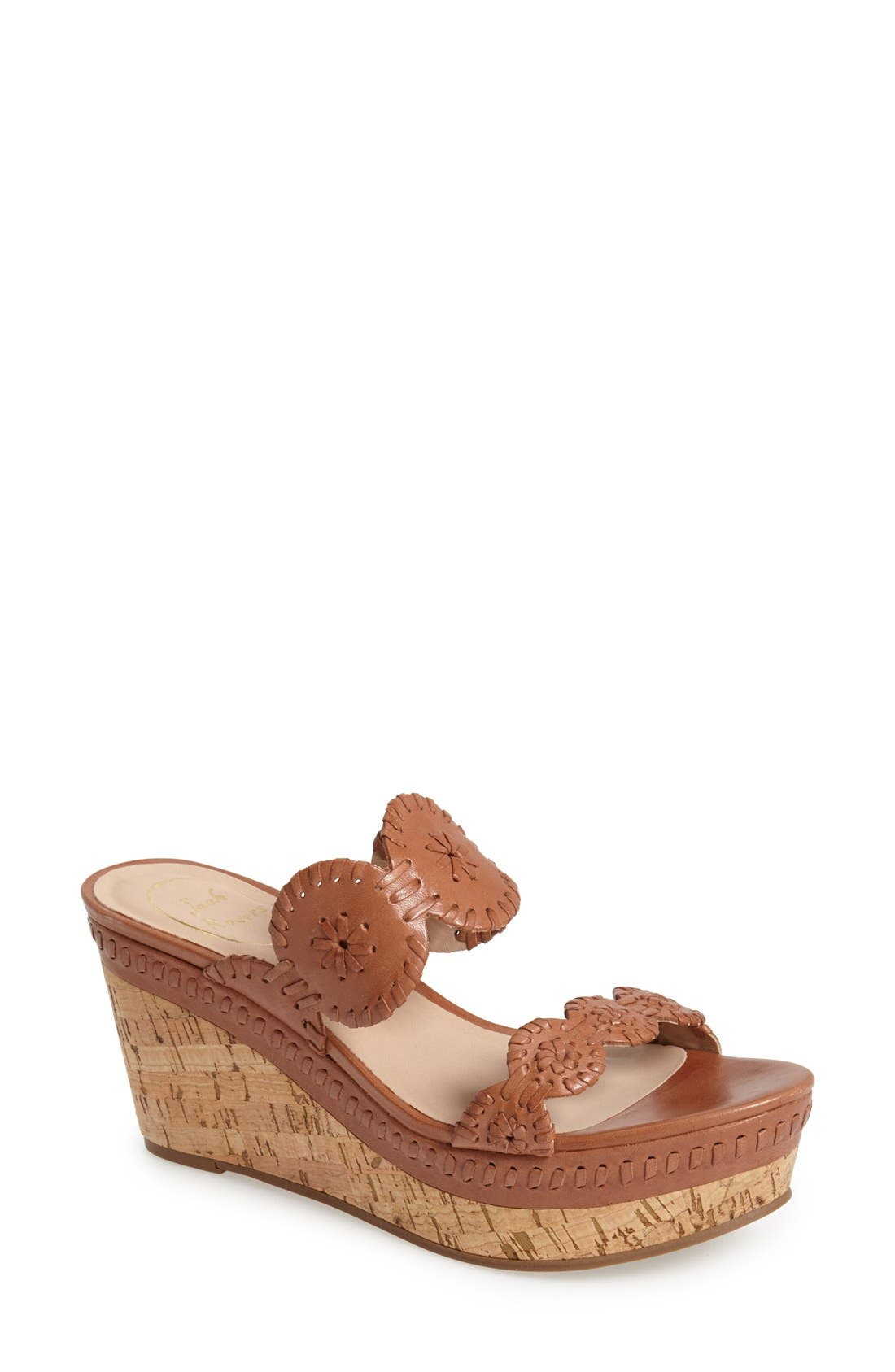 'Leigh' Wedge Sandal,                         Main,                         color, 602