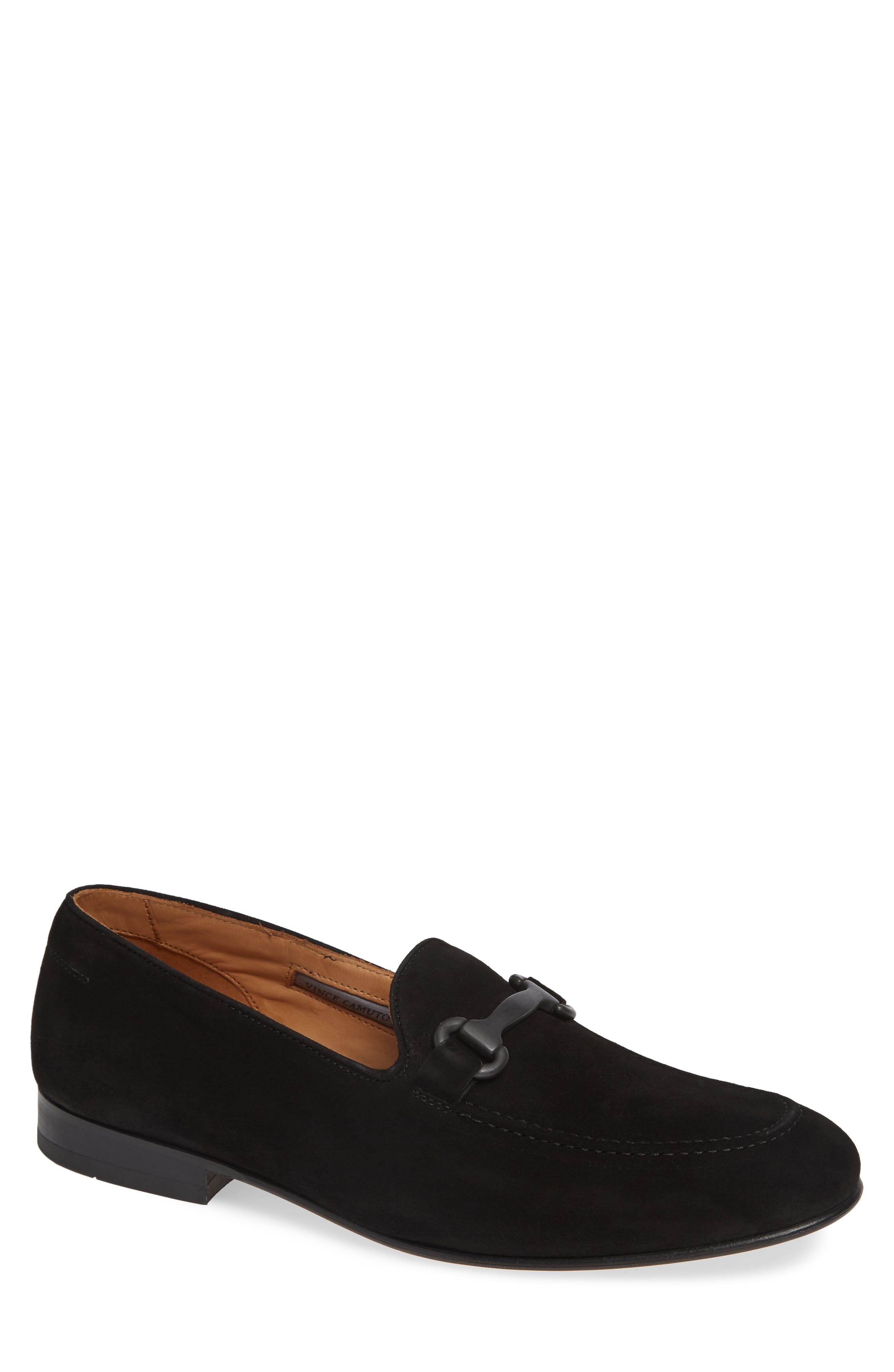 Brag Bit Loafer,                         Main,                         color, BLACK SUEDE