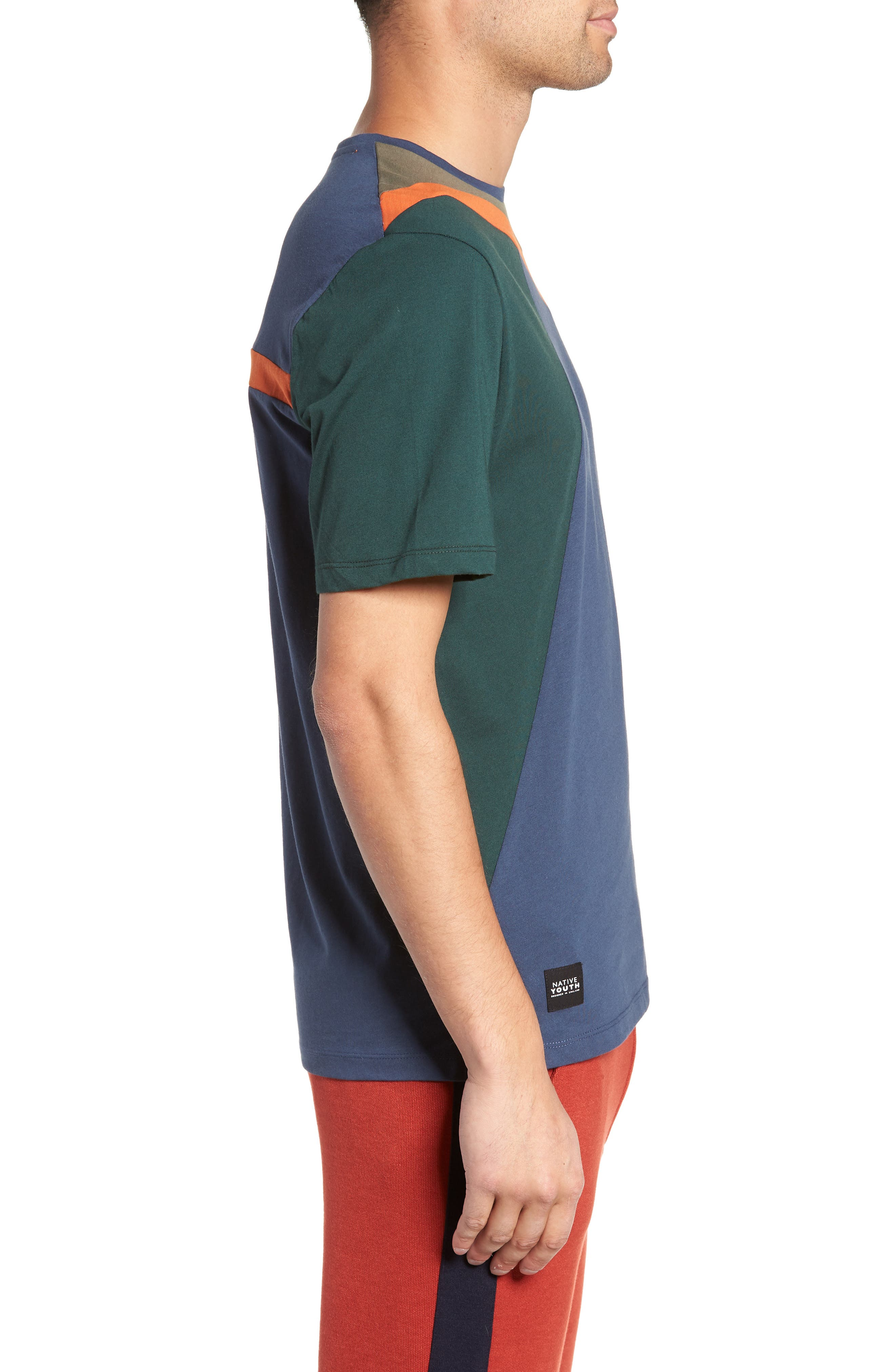 Colorblock T-Shirt,                             Alternate thumbnail 3, color,                             NAVY