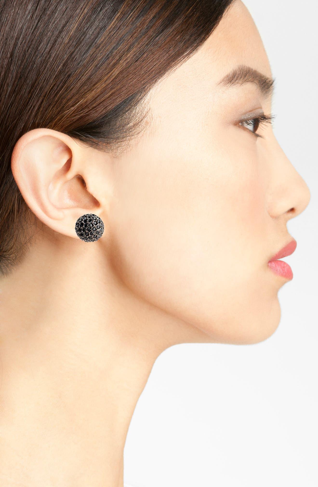 Dome Stud Earrings,                             Alternate thumbnail 2, color,                             001
