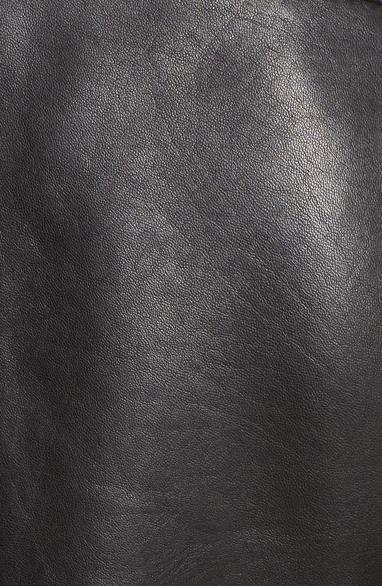 Leather Moto Jacket,                             Alternate thumbnail 23, color,