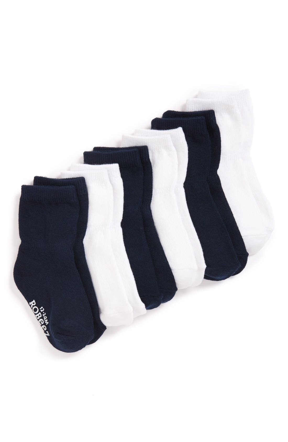 6-Pack Ankle Socks,                         Main,                         color, NAVY