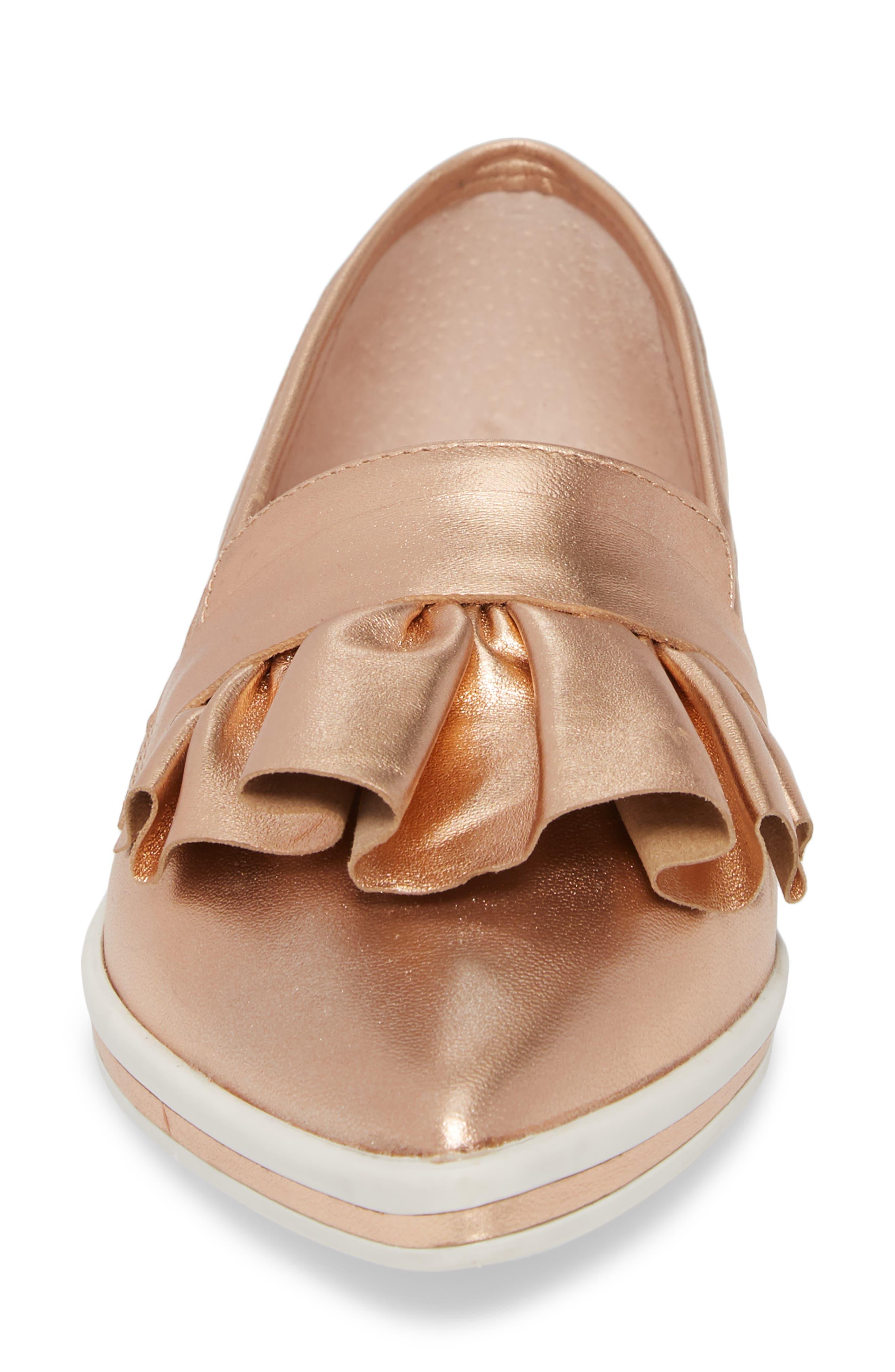 Taraji Ruffle Slip-On Sneaker,                             Alternate thumbnail 16, color,