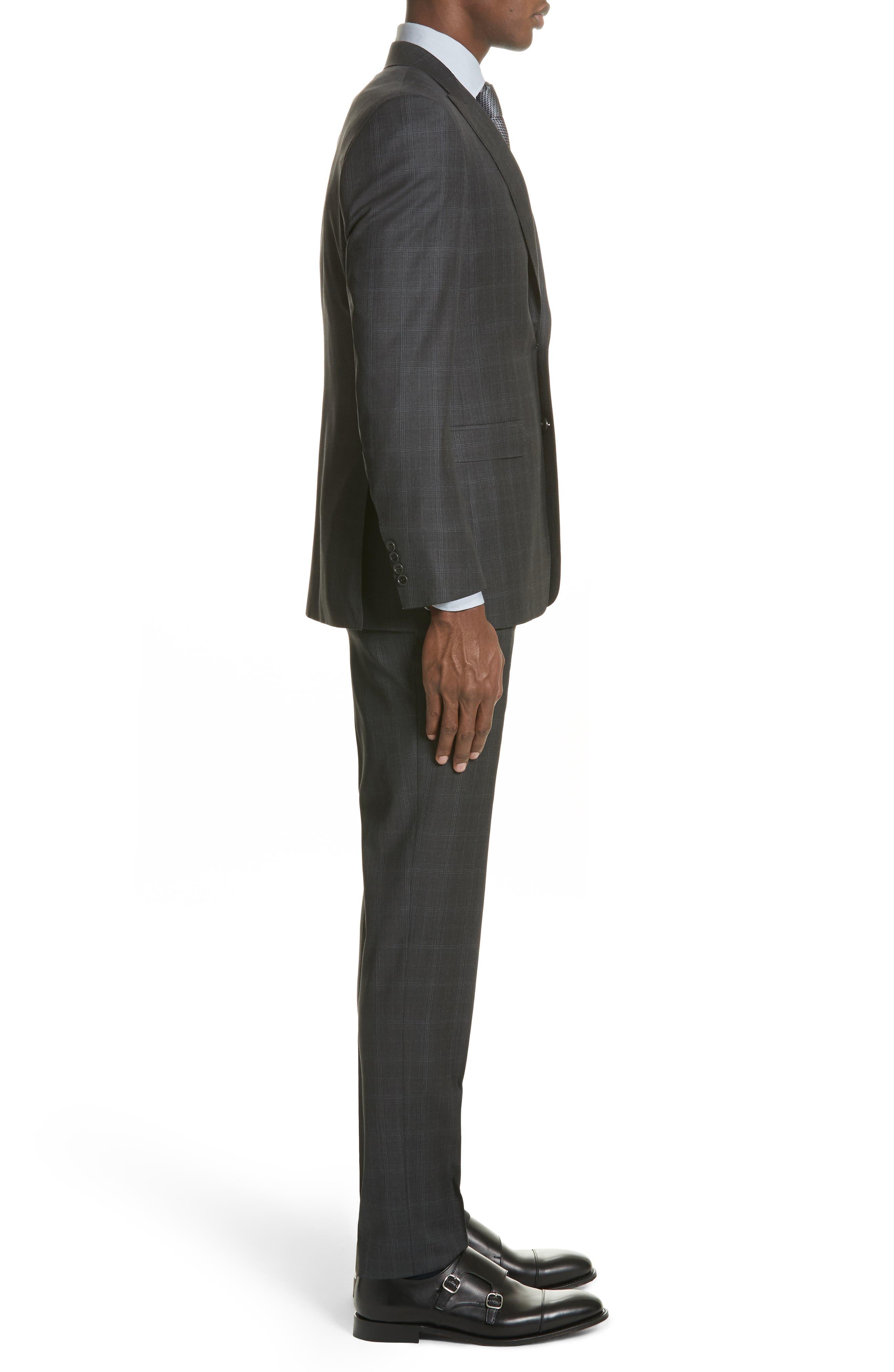 Classic Fit Plaid Wool Suit,                             Alternate thumbnail 3, color,                             023
