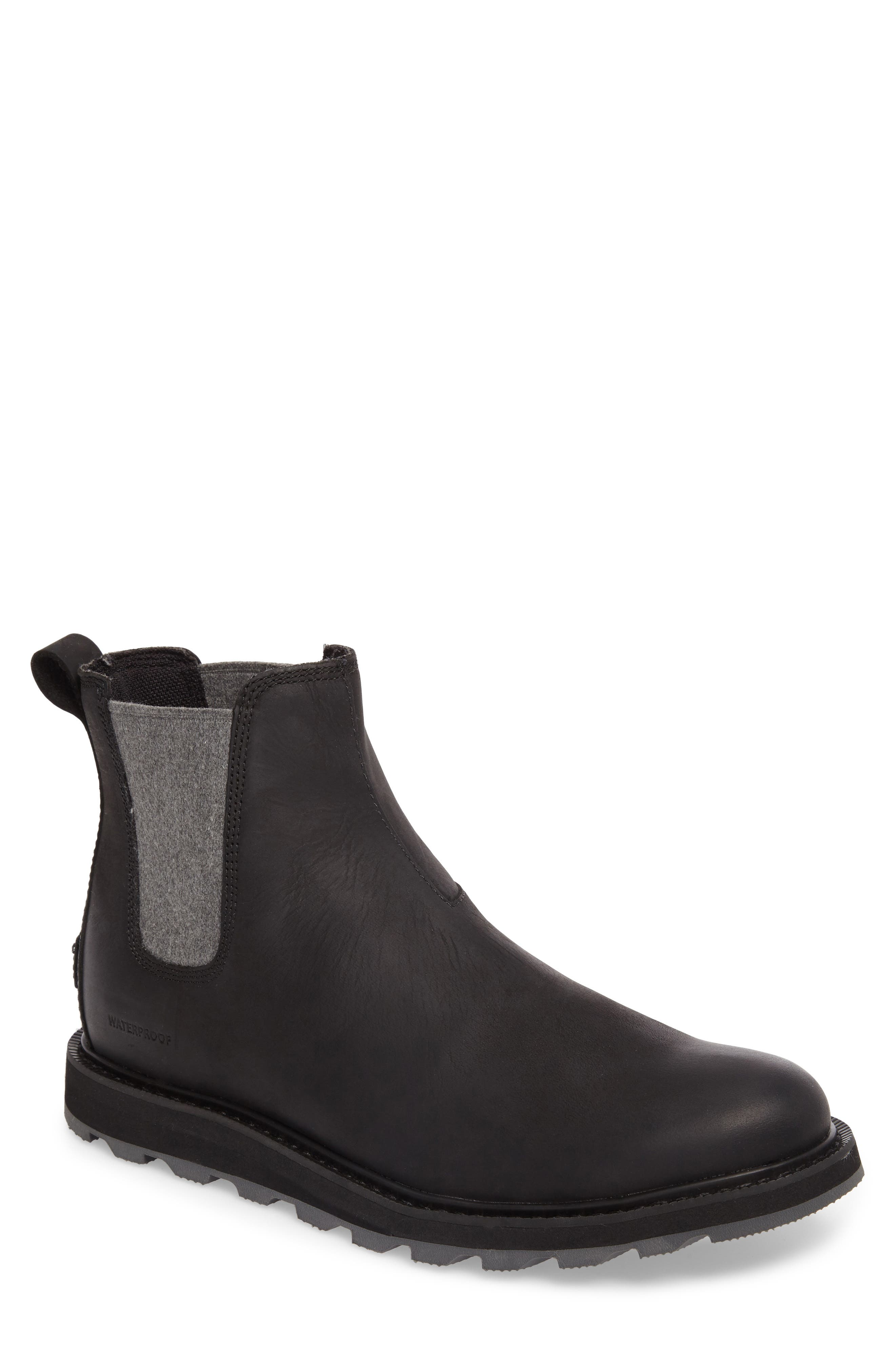 Madson Waterproof Chelsea Boot,                         Main,                         color, BLACK