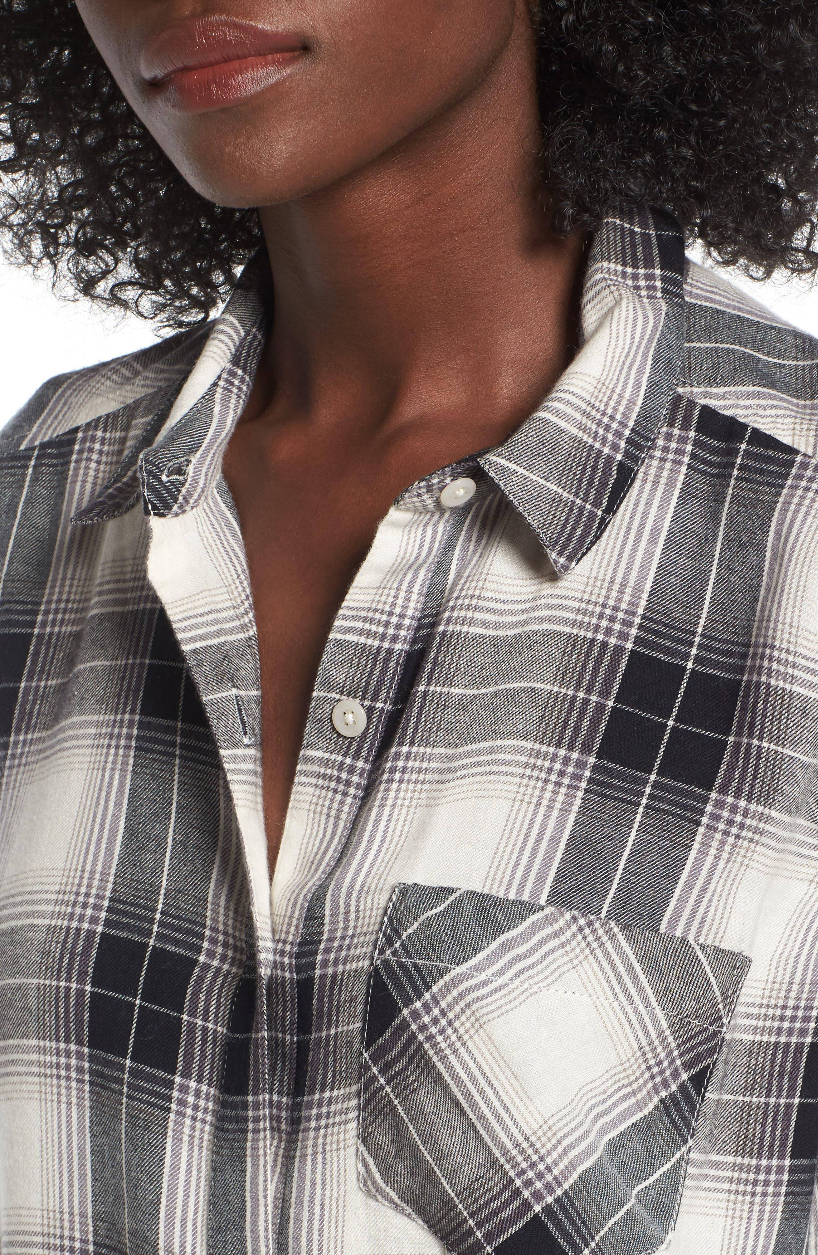 Plaid Cotton Blend Shirt,                             Alternate thumbnail 20, color,
