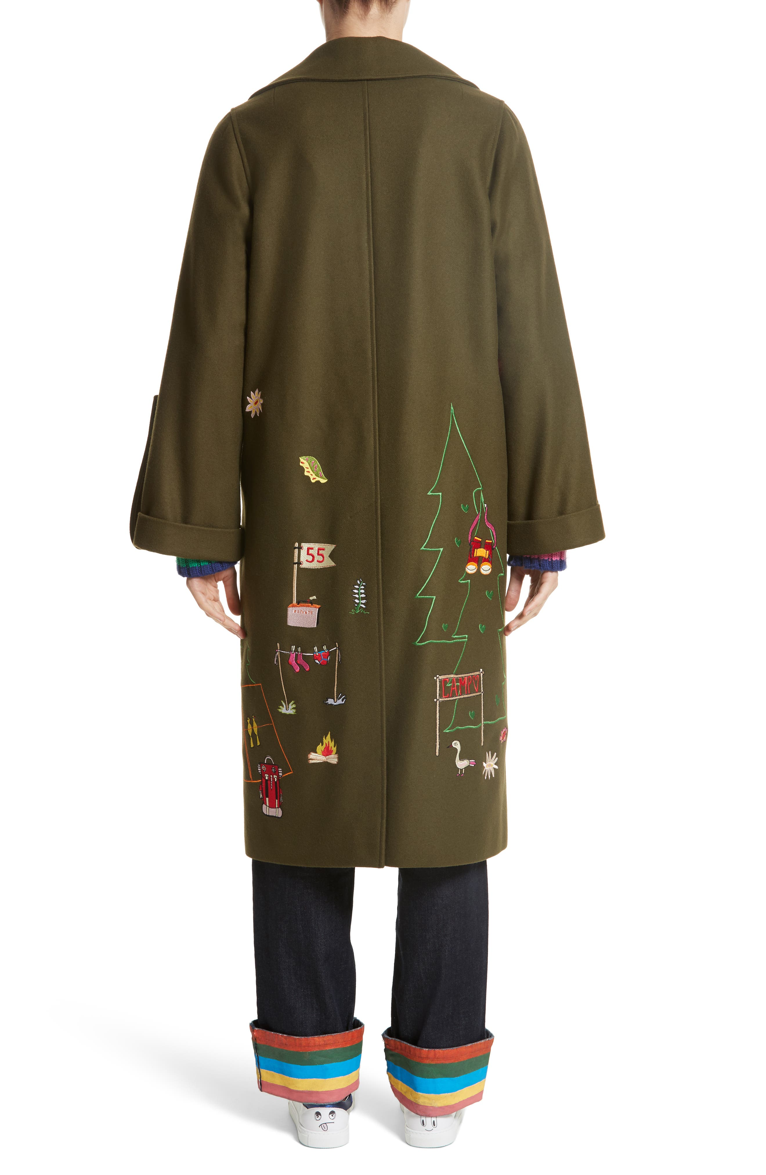 Adventure Embroidered Coat,                             Alternate thumbnail 2, color,                             340