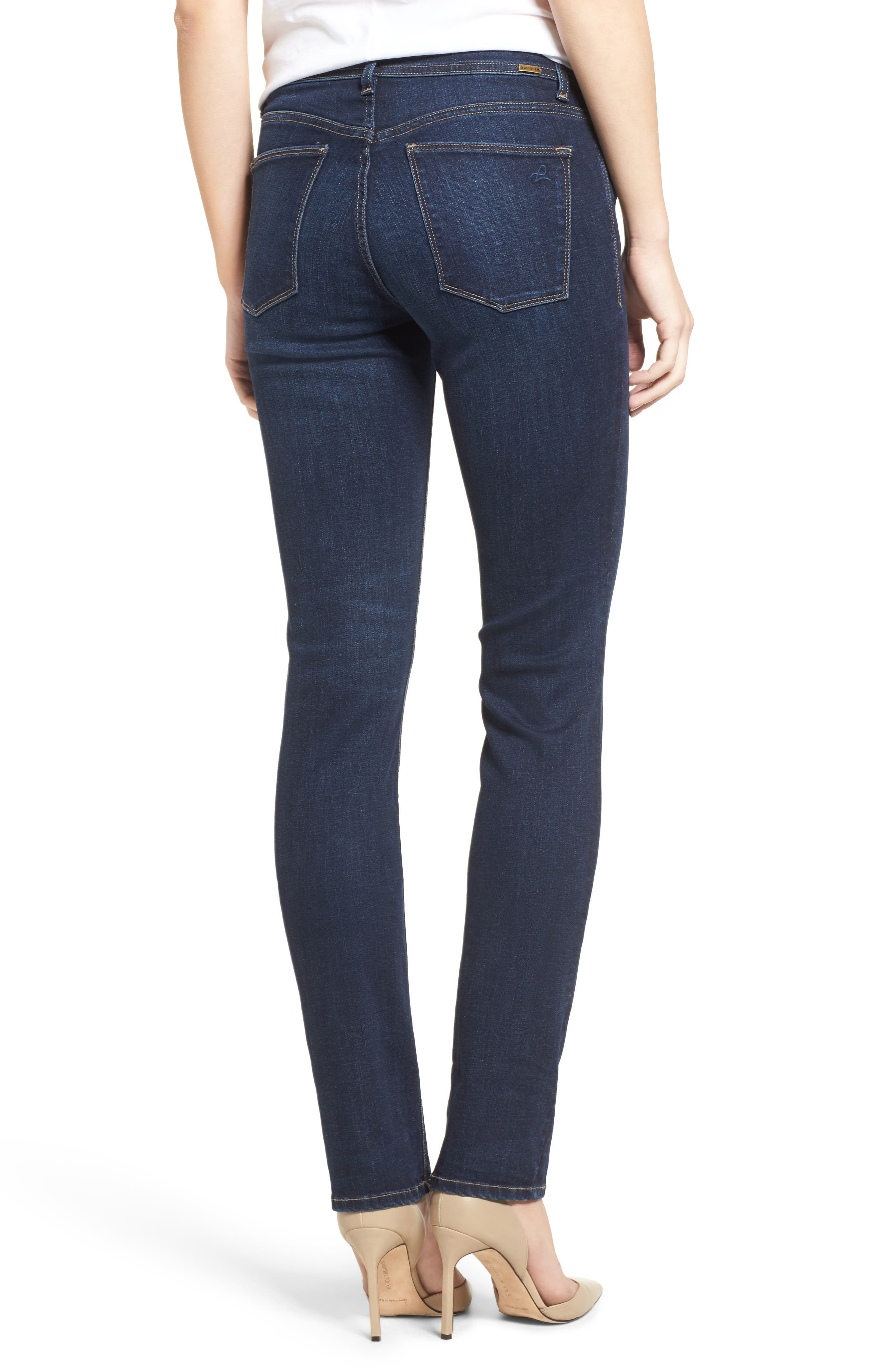 'Coco' Curvy Slim Straight Leg Jeans,                             Alternate thumbnail 3, color,