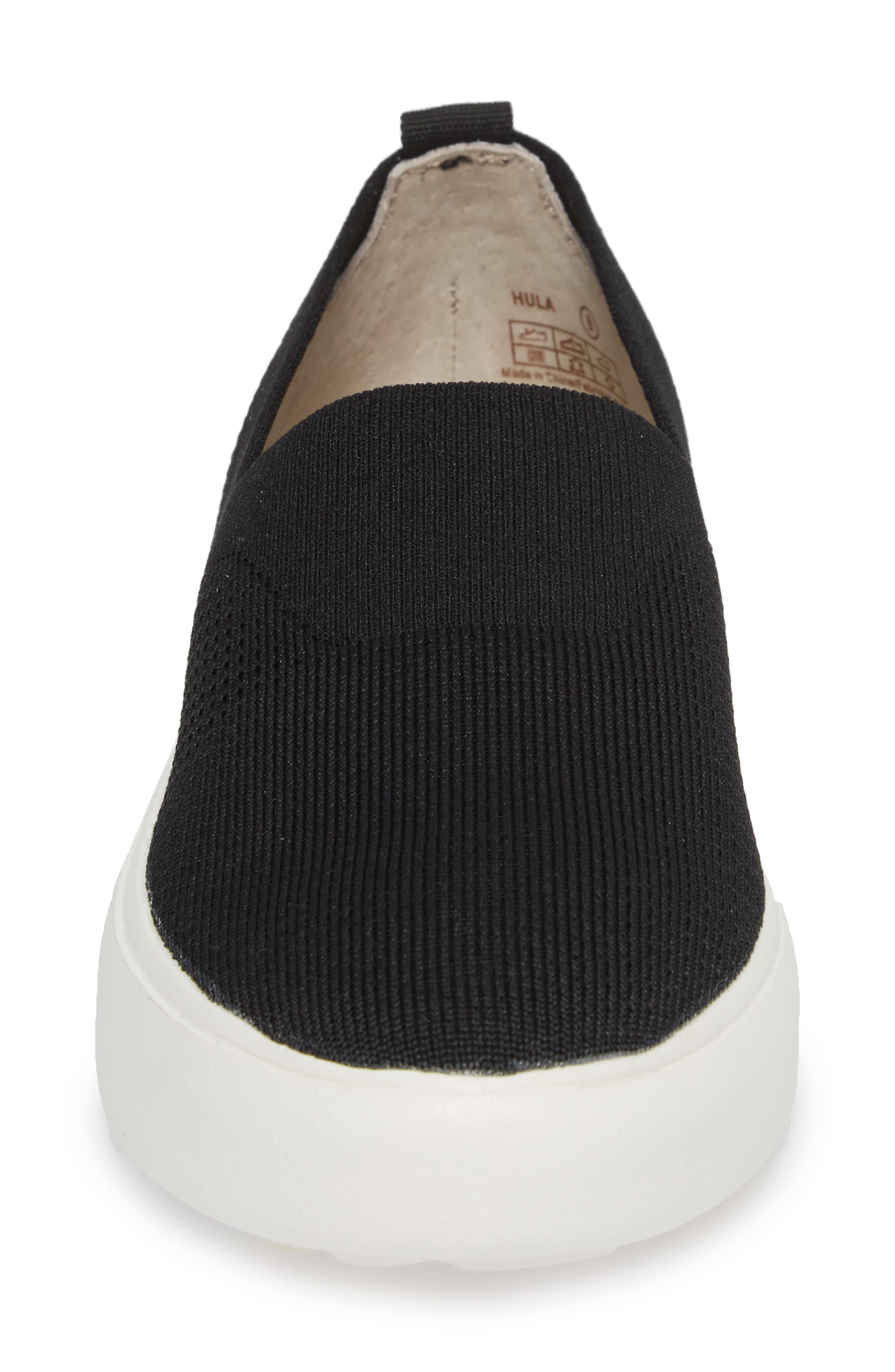 Hula Slip-On Sneaker,                             Alternate thumbnail 4, color,                             BLACK