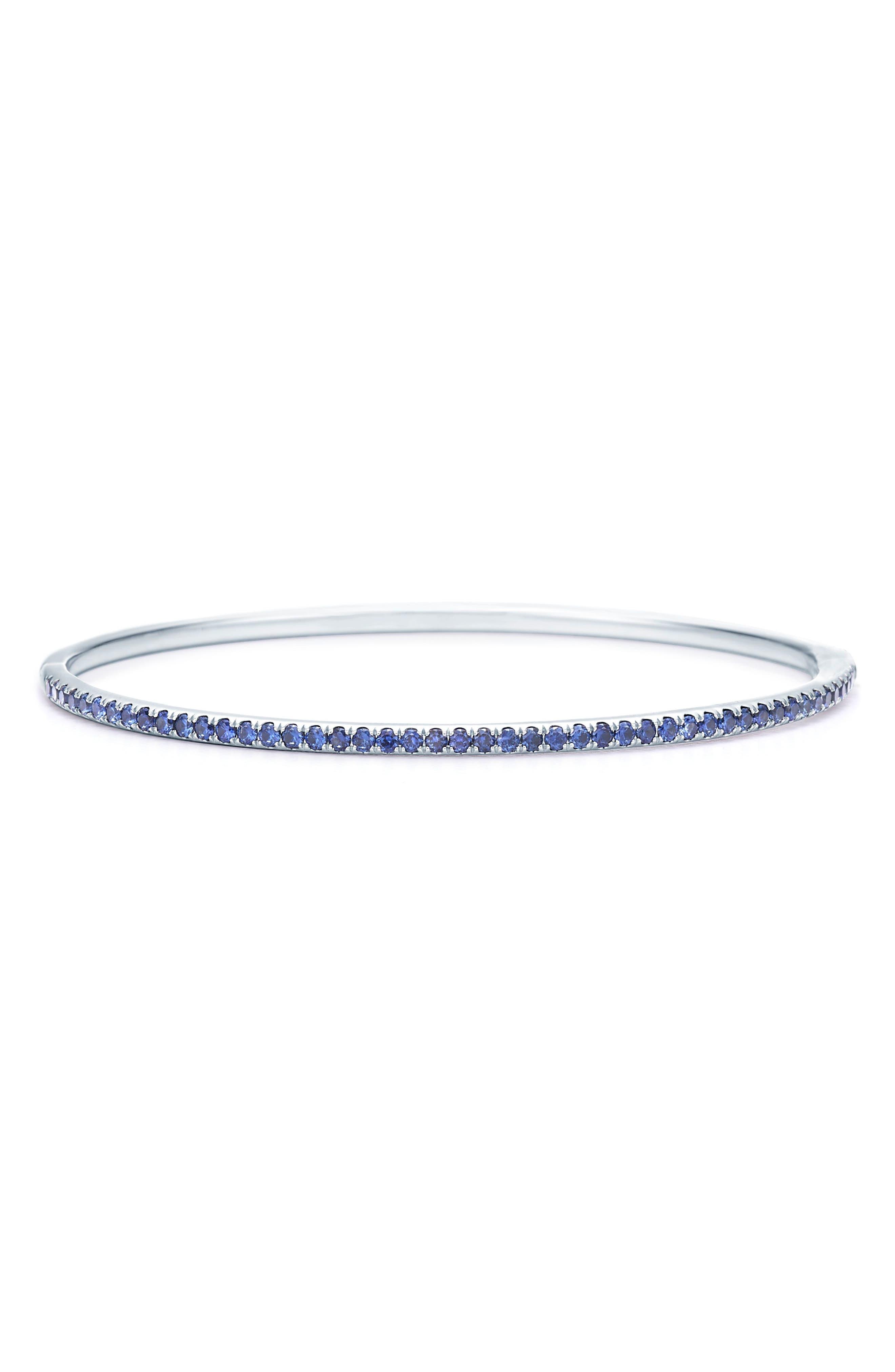Sapphire Stacking Bracelet,                             Main thumbnail 1, color,                             WHITE GOLD