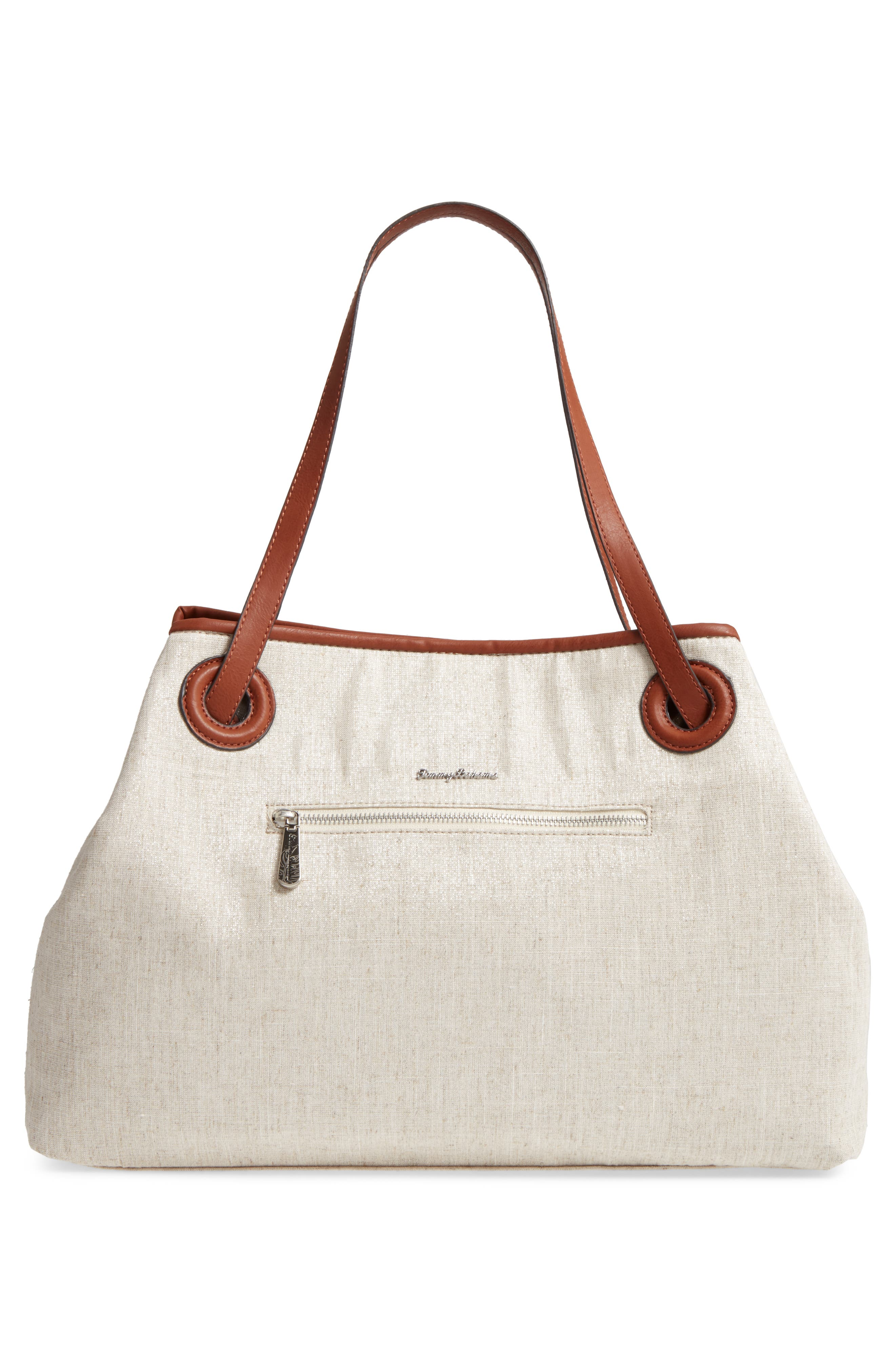 Waikiki Embroidered Canvas Tote,                             Alternate thumbnail 7, color,
