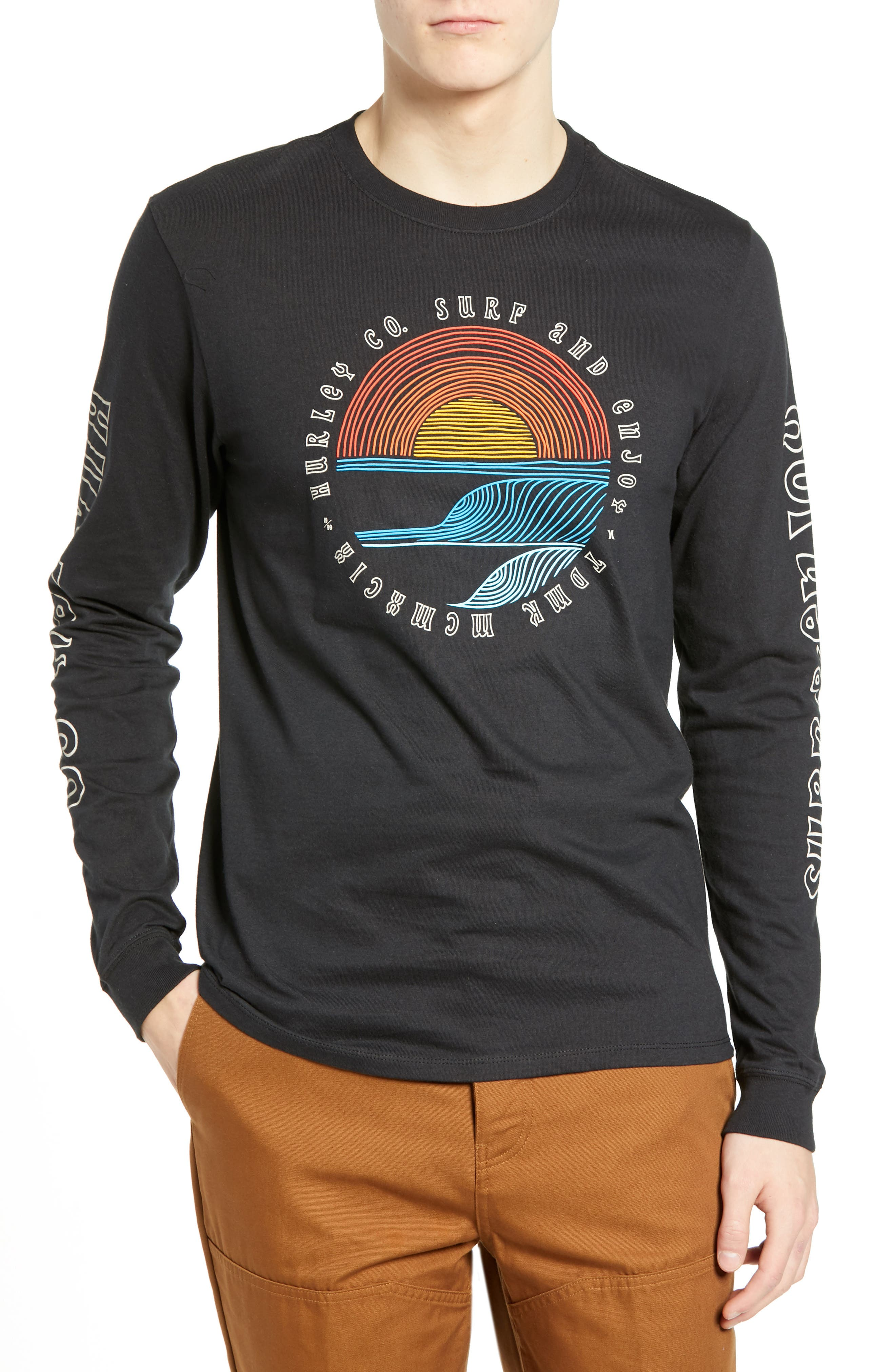 833a7cb68b137 Hurley Core Pennant Graphic T-Shirt