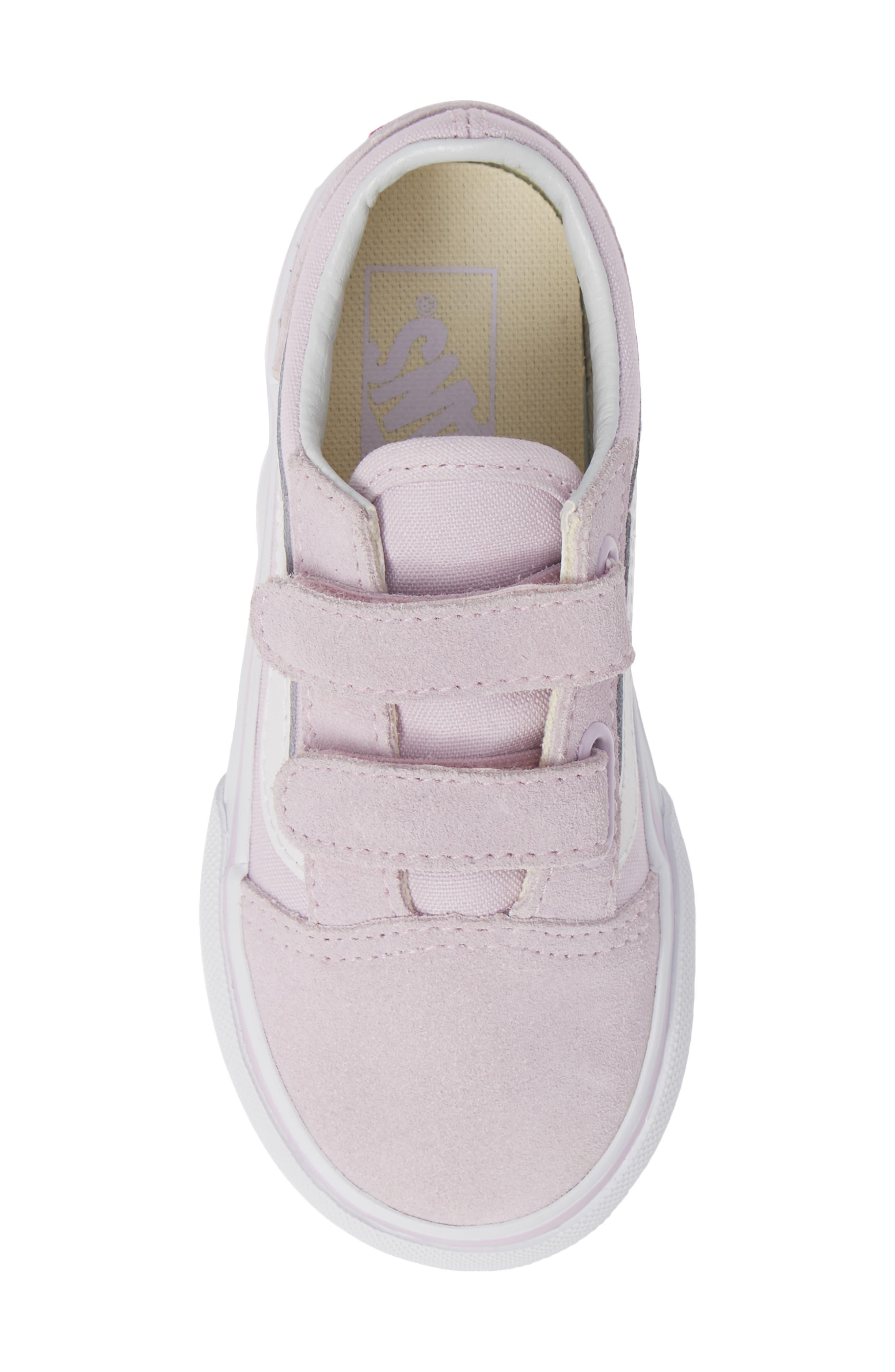 'Old Skool V' Sneaker,                             Alternate thumbnail 5, color,                             LAVENDER FOG/ TRUE WHITE