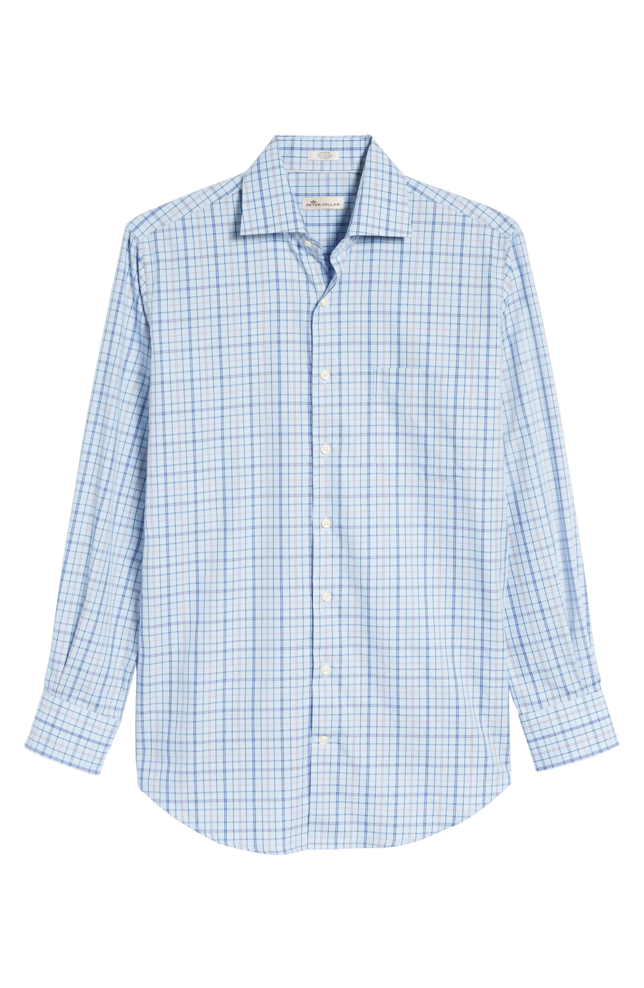Coastland Regular Fit Plaid Sport Shirt,                             Alternate thumbnail 6, color,                             437