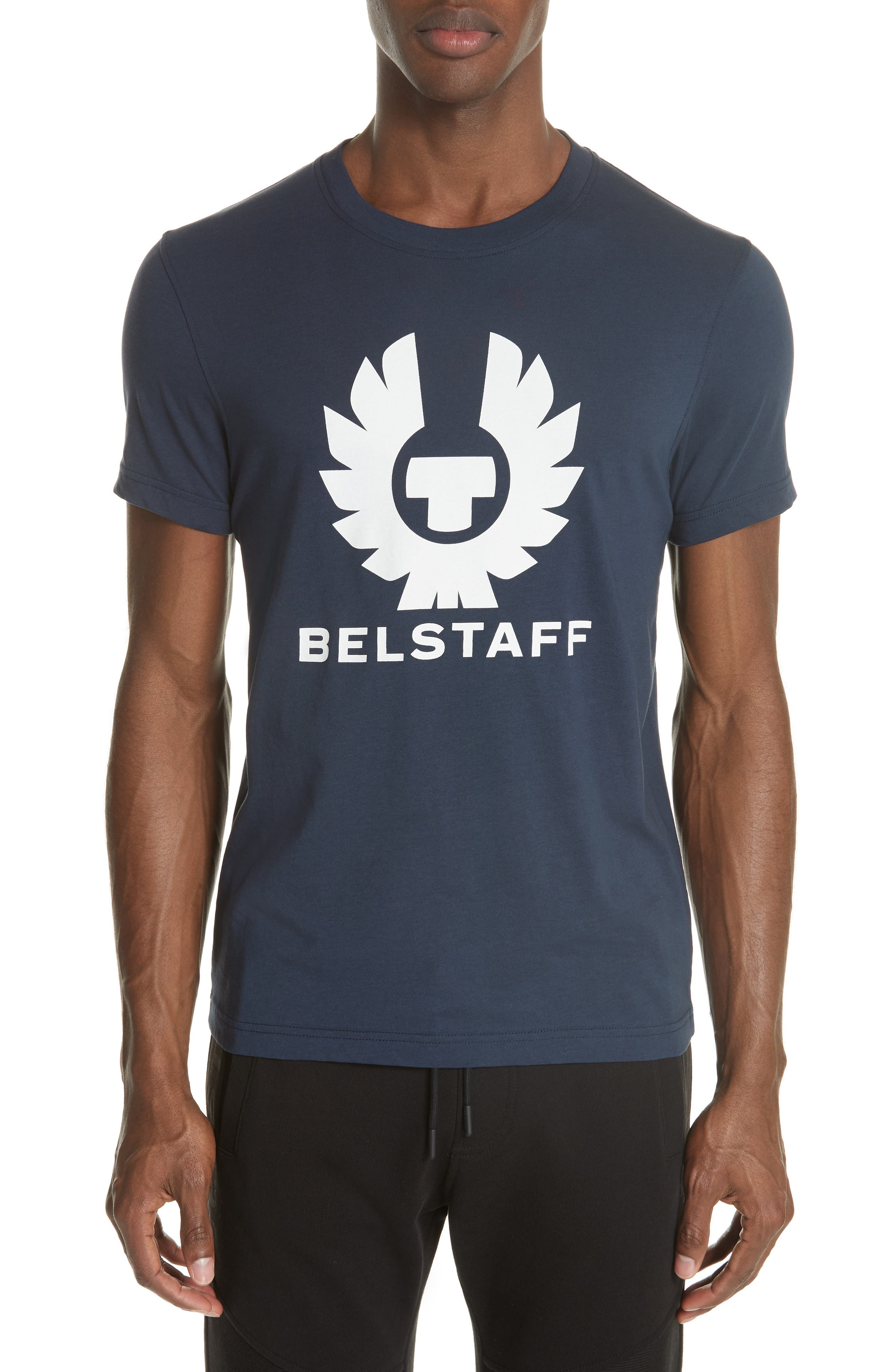 Logo Graphic Jersey T-Shirt,                             Main thumbnail 1, color,                             DEEP NAVY