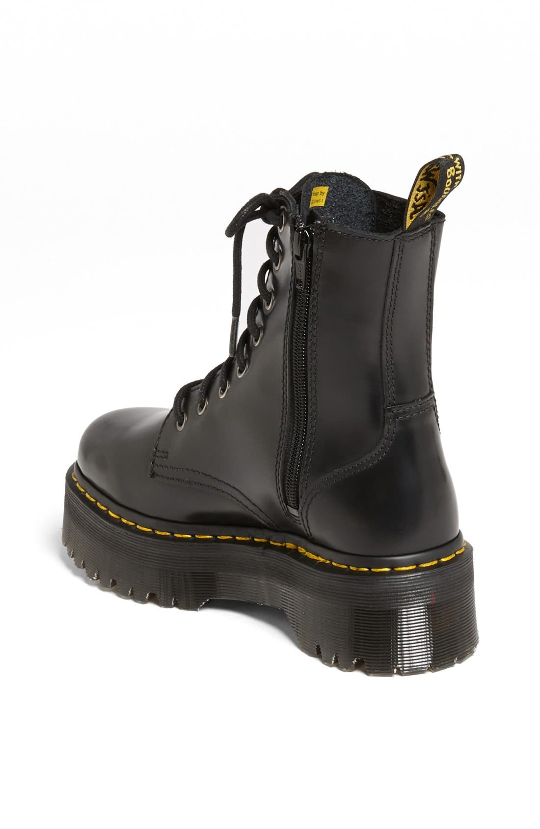DR. MARTENS,                             'Jadon' Boot,                             Alternate thumbnail 2, color,                             BLACK