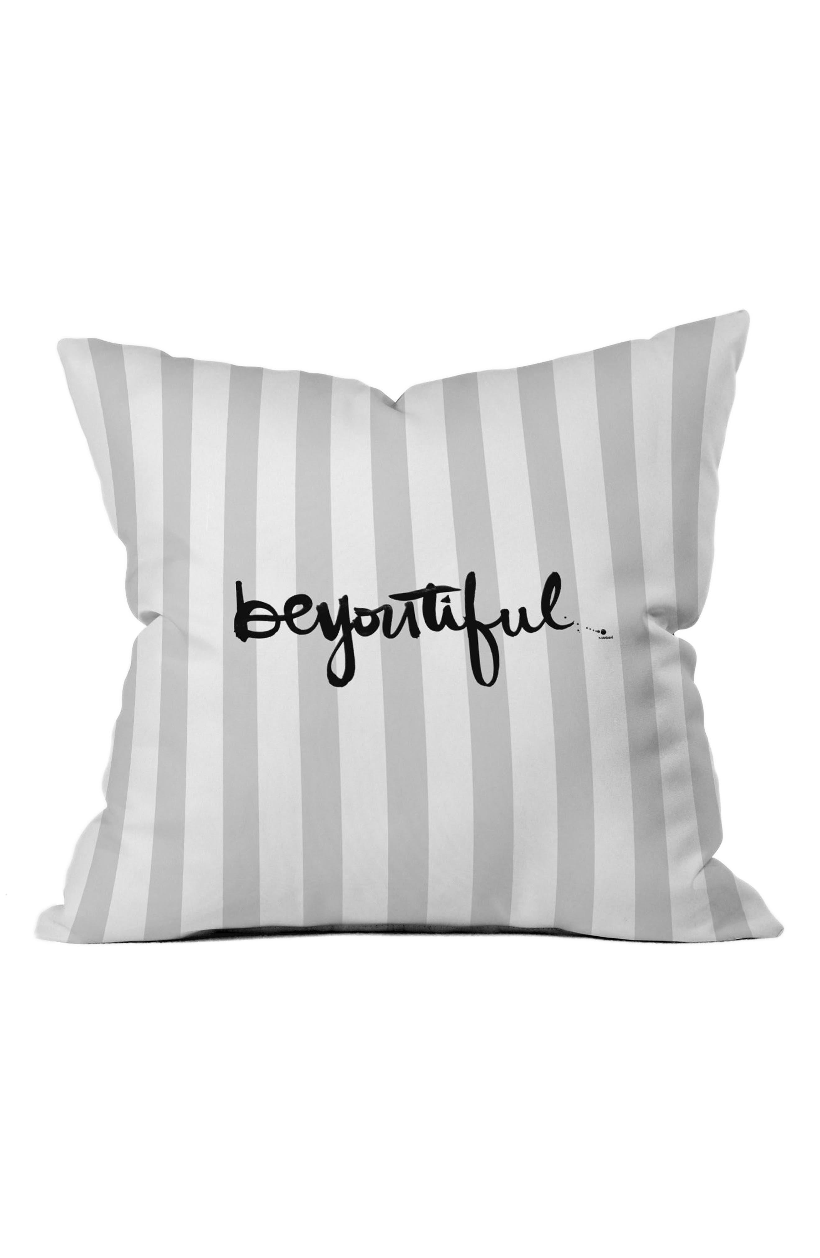 Be-you-tiful Pillow,                             Main thumbnail 1, color,