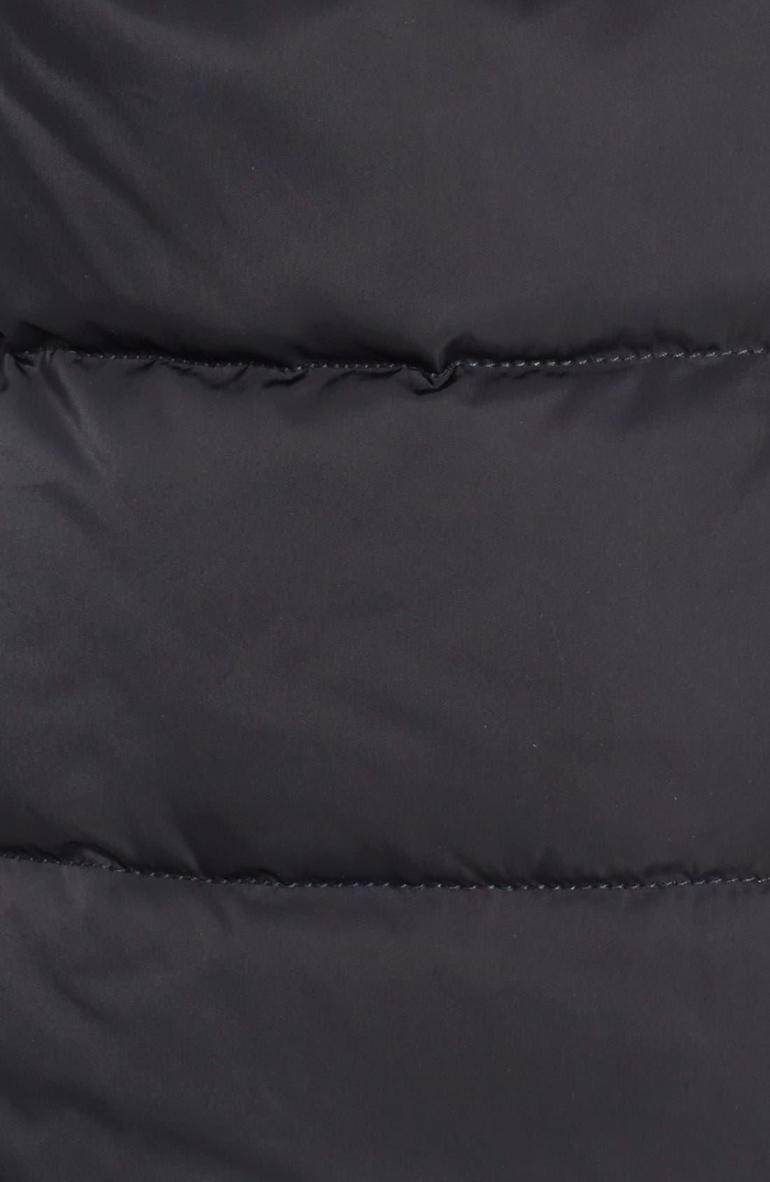 VERA WANG,                             Pillow Collar Asymmetrical Down Coat,                             Alternate thumbnail 3, color,                             001