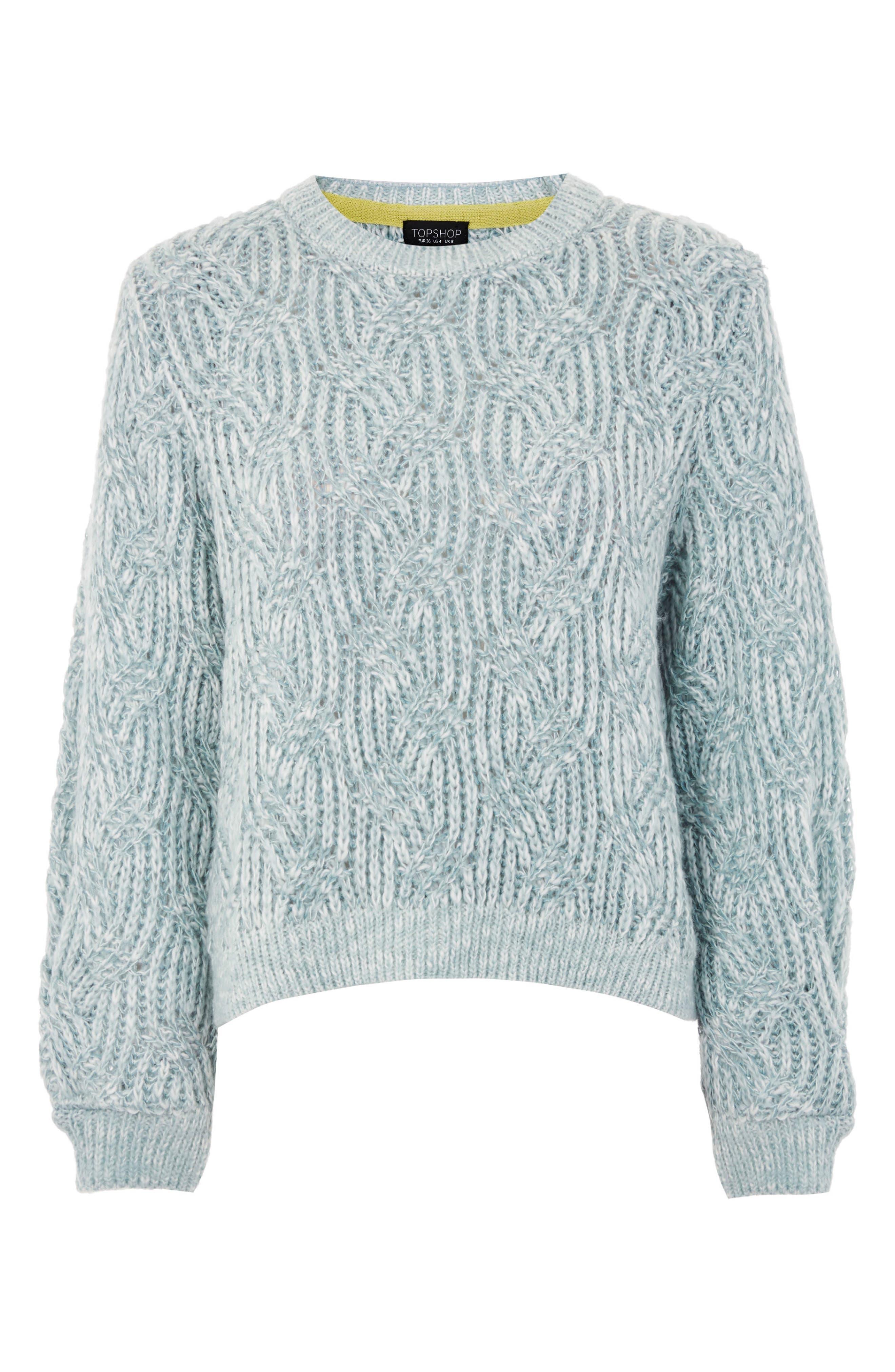 Swirl Tuck Sweater,                             Alternate thumbnail 3, color,                             450