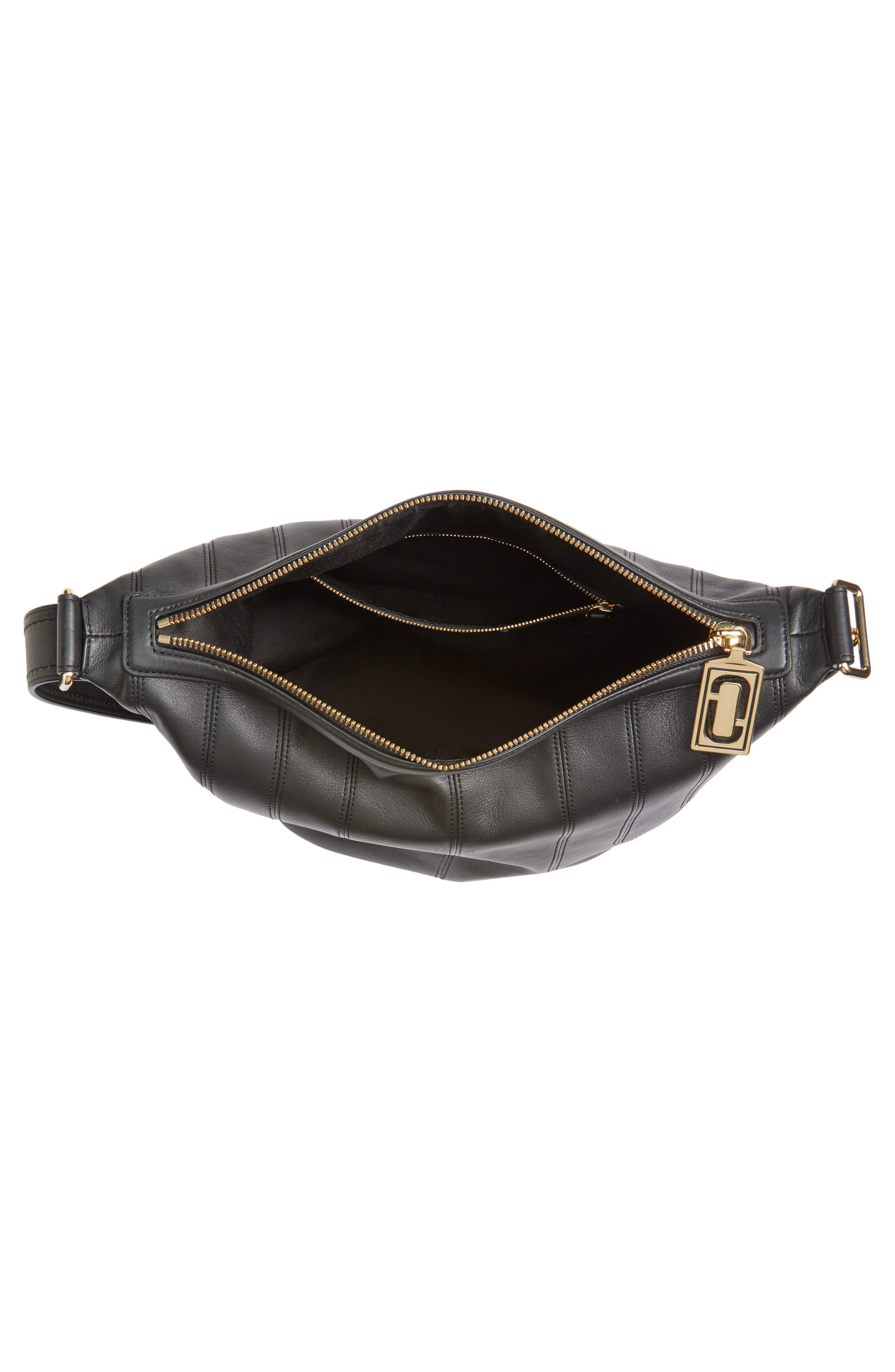 The Sling Mod Leather Hobo/Crossbody/Sling Bag,                             Alternate thumbnail 4, color,                             001