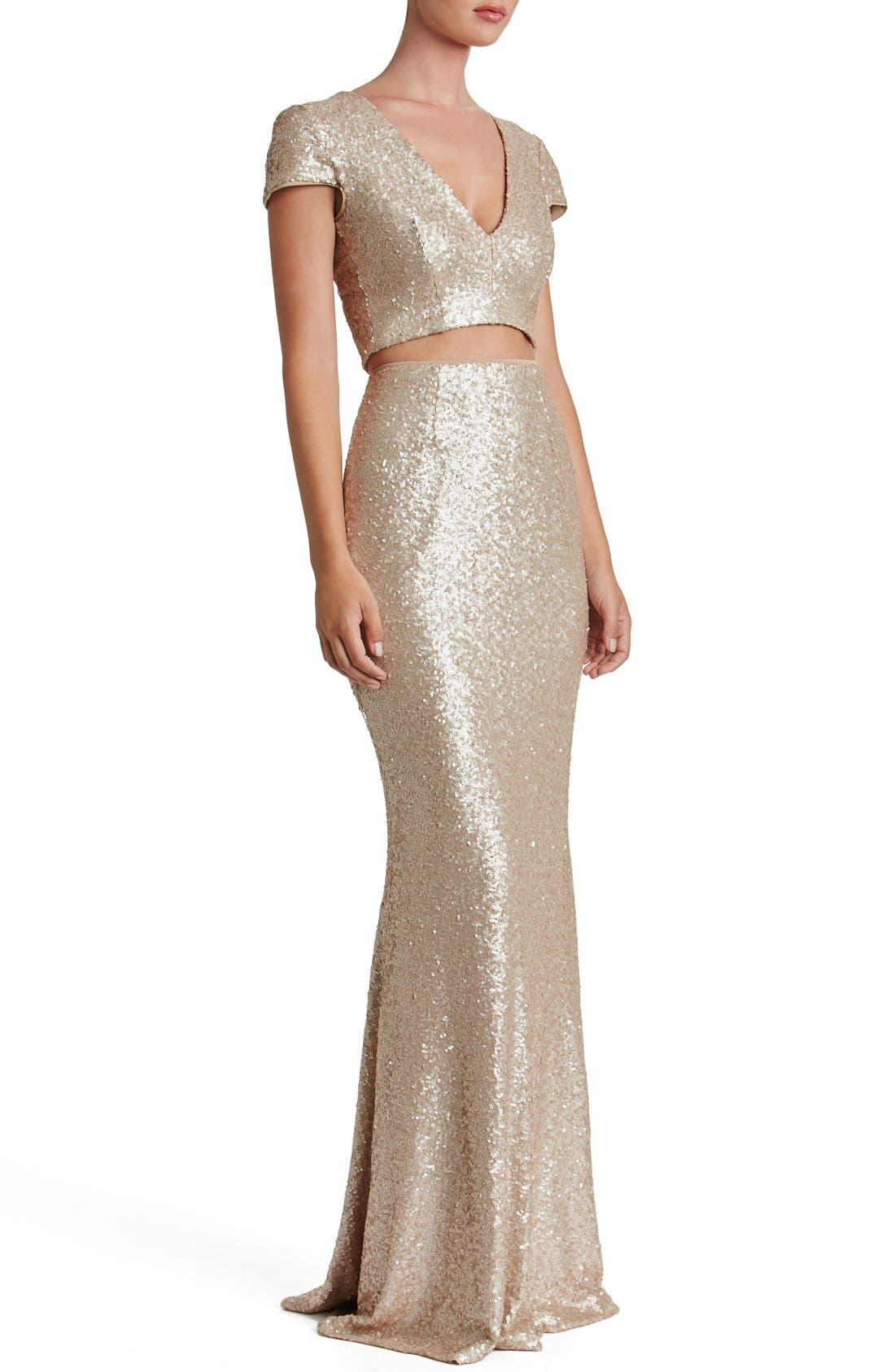 Cara Two-Piece Gown,                             Alternate thumbnail 15, color,