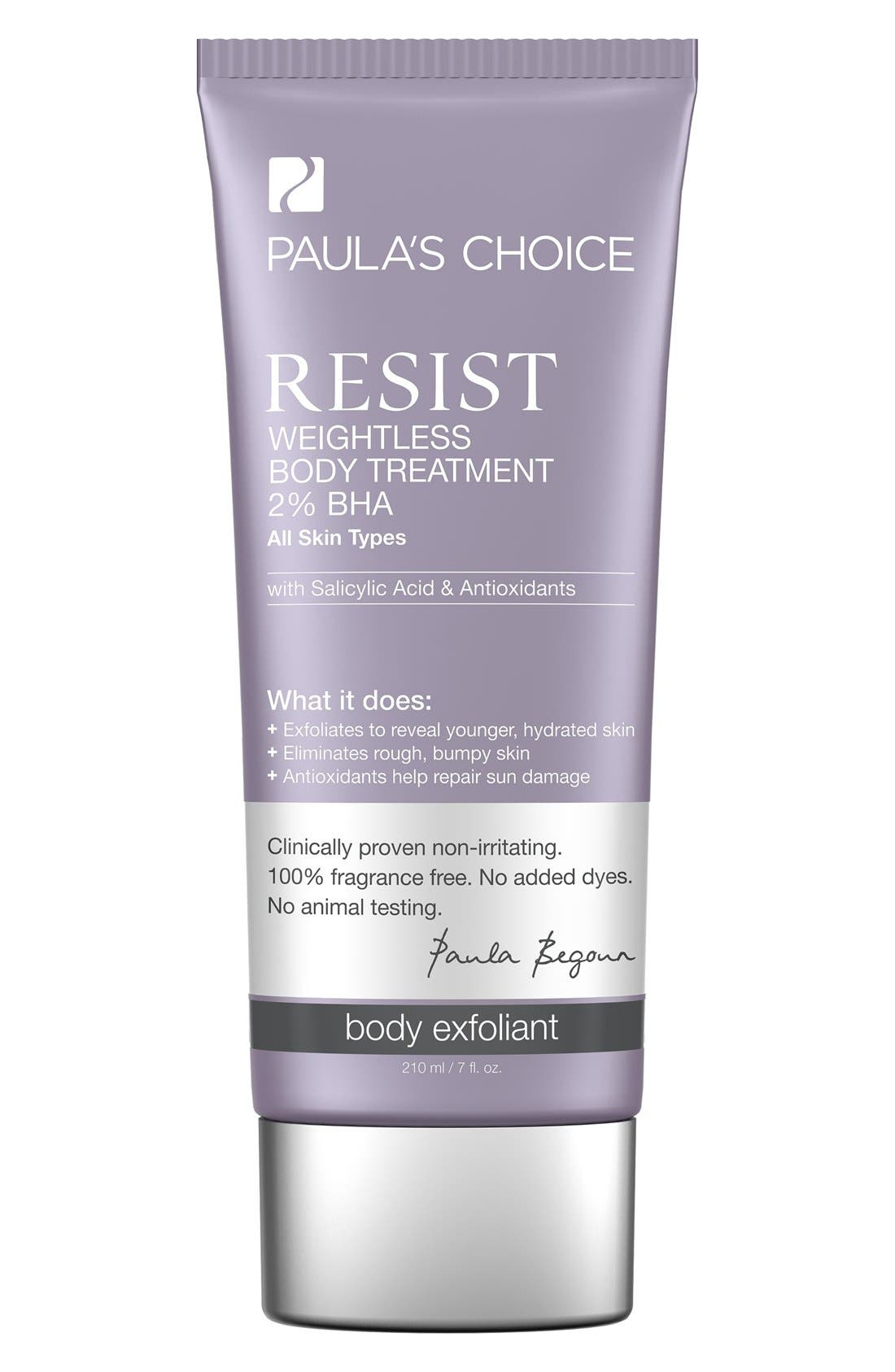 Resist Weightless Body Treatment 2% BHA,                             Main thumbnail 1, color,                             NO COLOR
