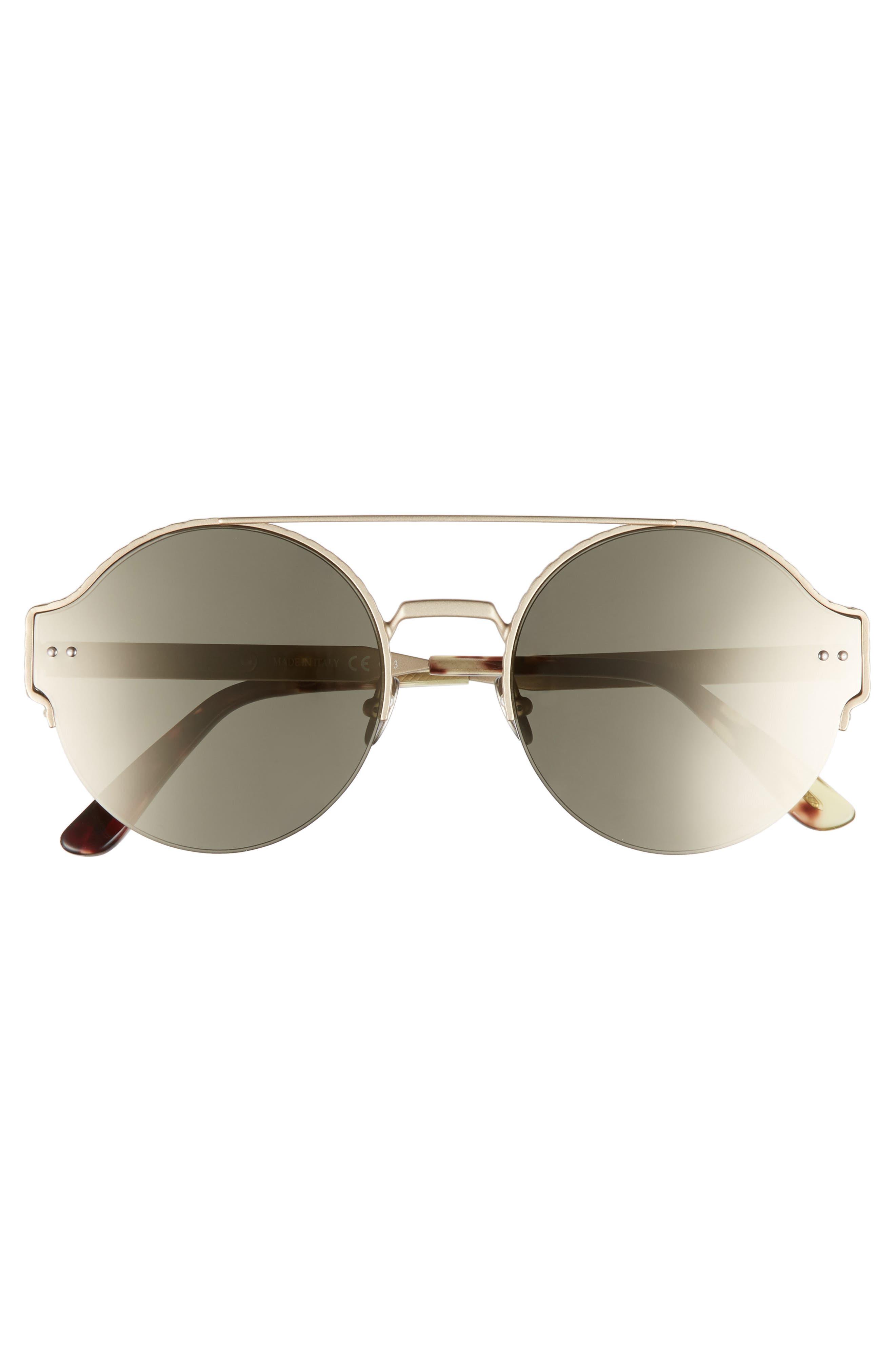 54mm Round Semi-Rimless Sunglasses,                             Alternate thumbnail 8, color,