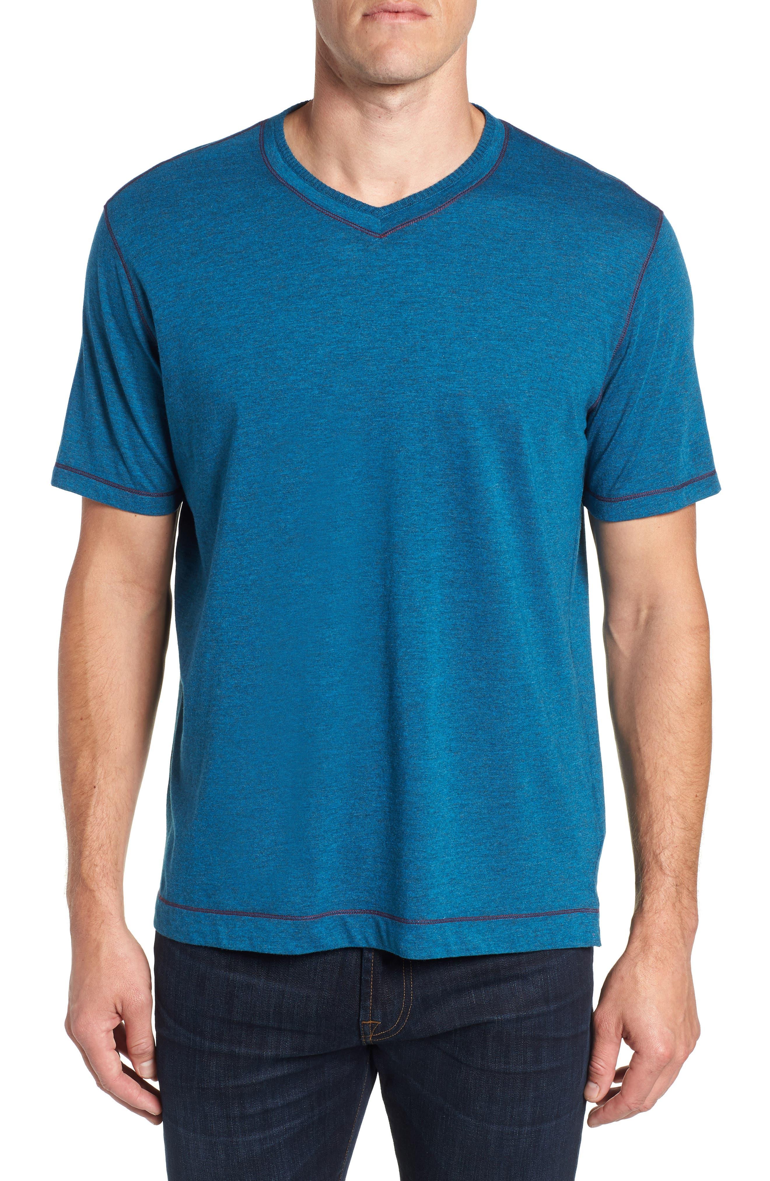 Traveler V-Neck T-Shirt,                             Main thumbnail 1, color,                             DARK TEAL
