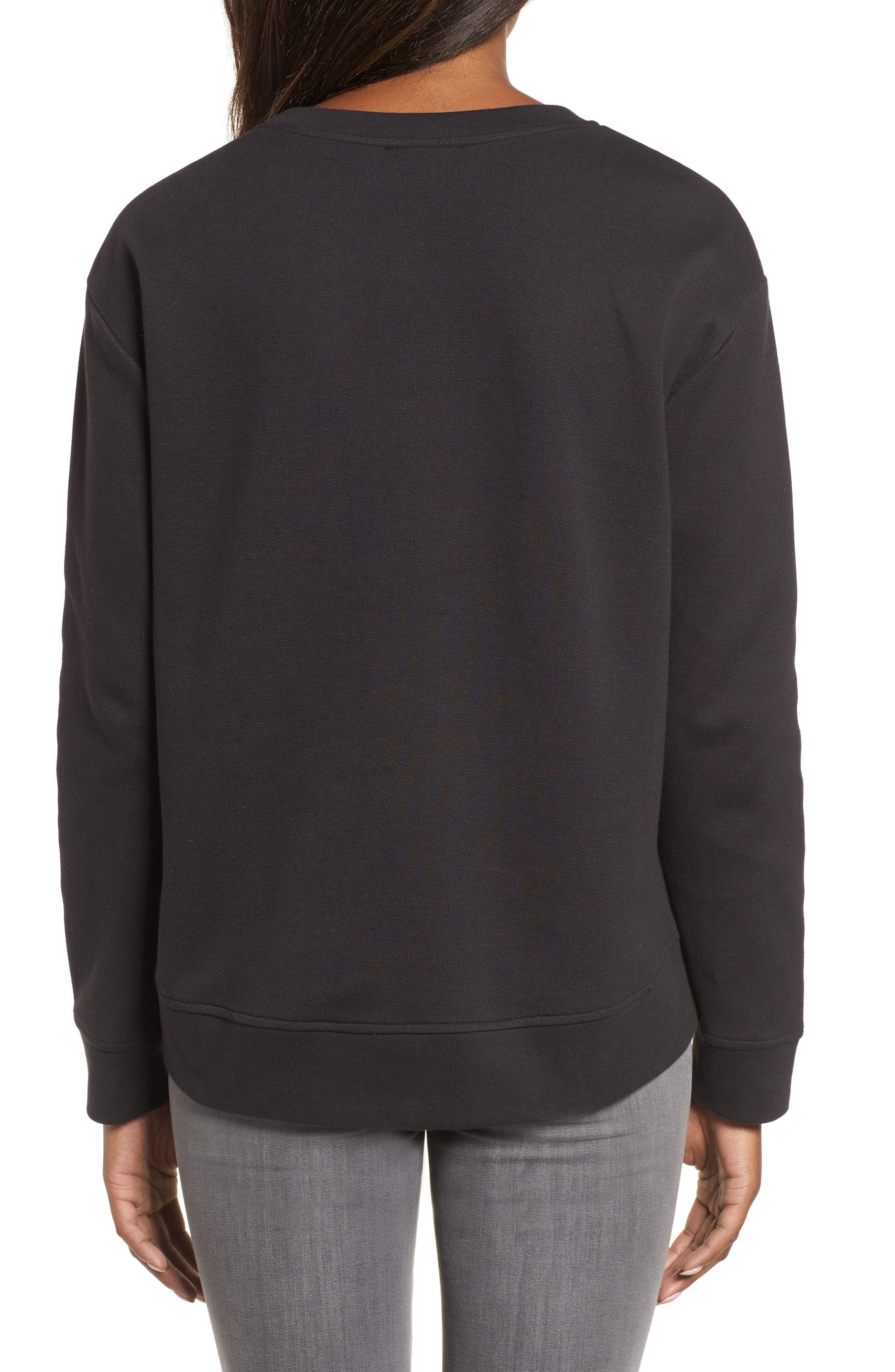 NYC Sweatshirt,                             Alternate thumbnail 2, color,                             BLACK
