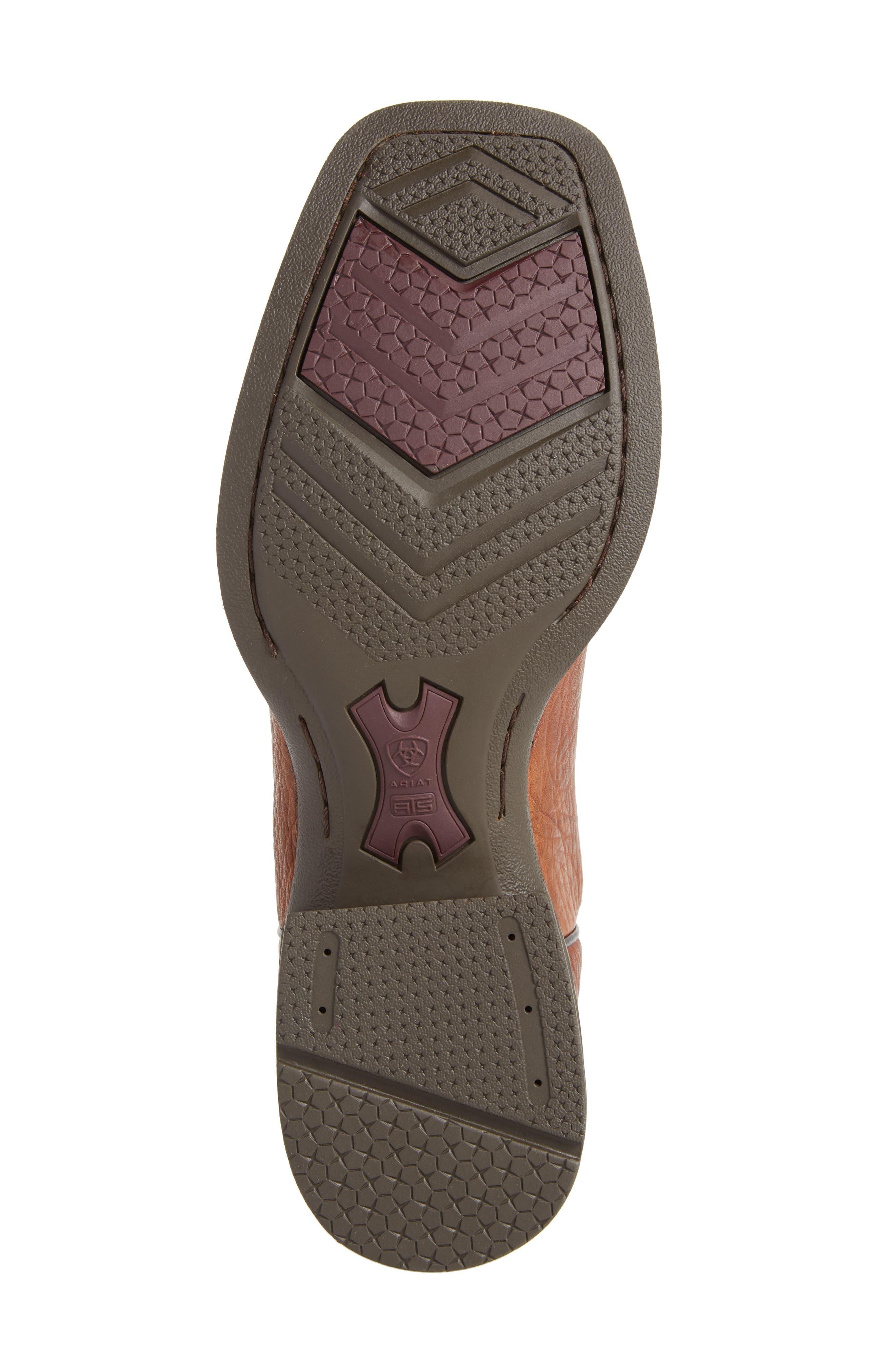 Heritage Latigo Square Toe Cowboy Boot,                             Alternate thumbnail 6, color,                             COGNAC/ BROWN BOMBER LEATHER