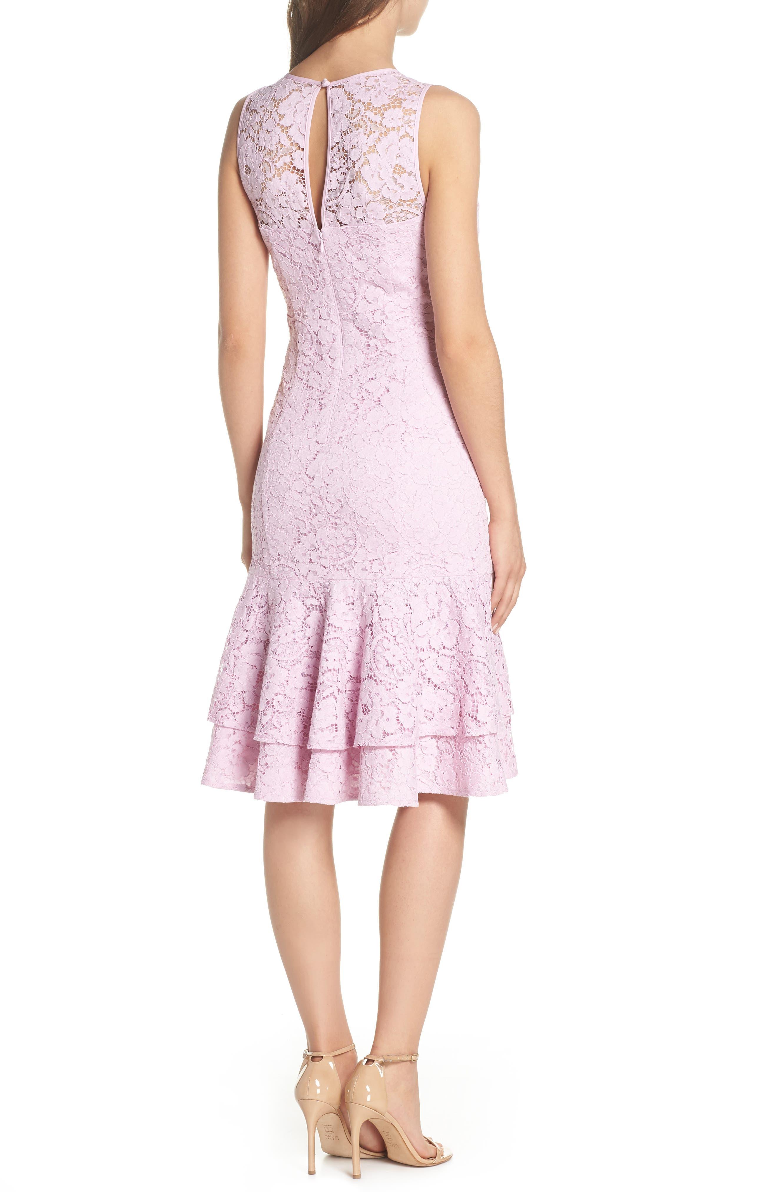 Flounce Hem Lace Dress,                             Alternate thumbnail 2, color,                             650