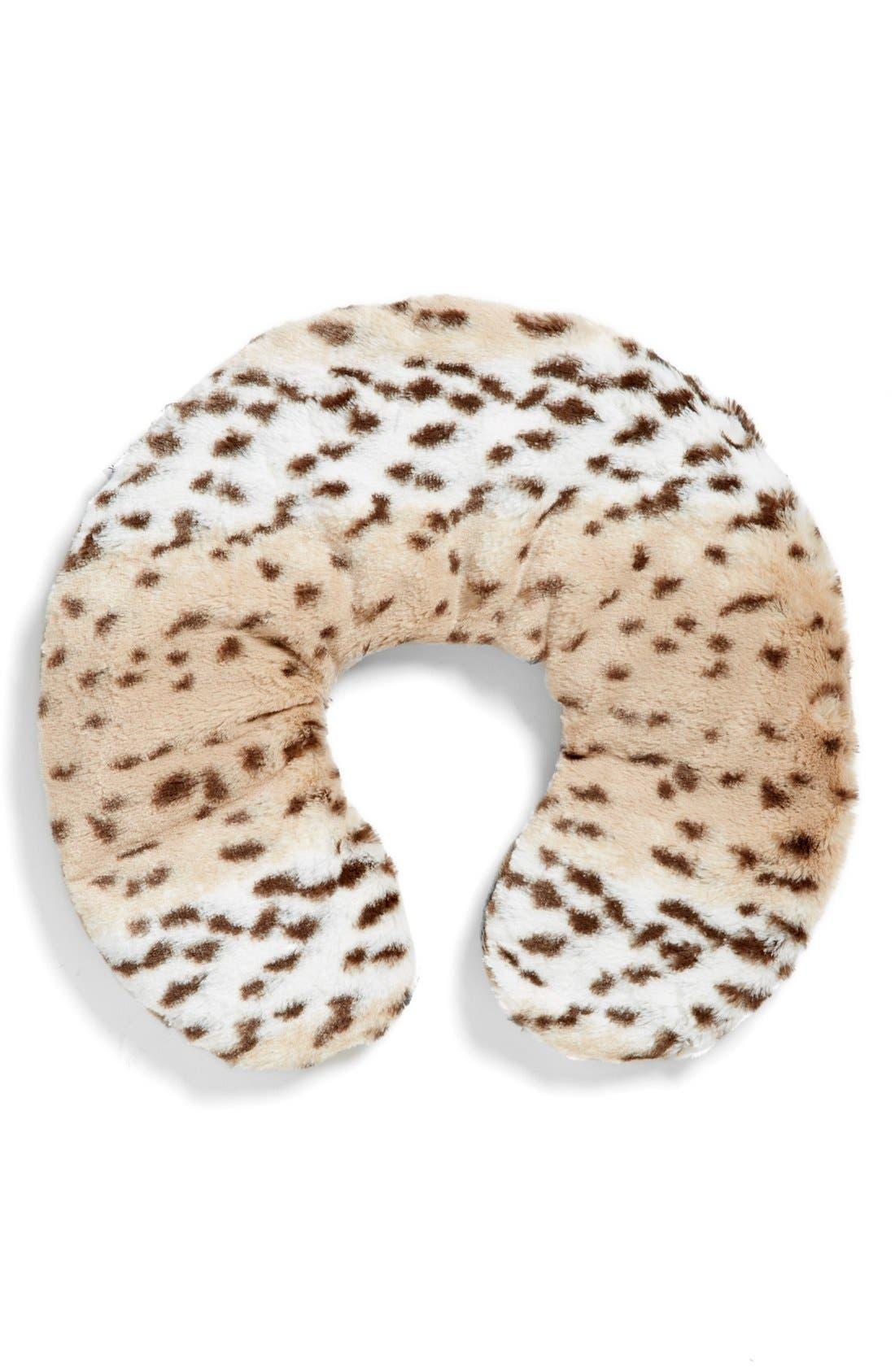 'Snow Leopard' Neck Pillow,                             Main thumbnail 1, color,                             000