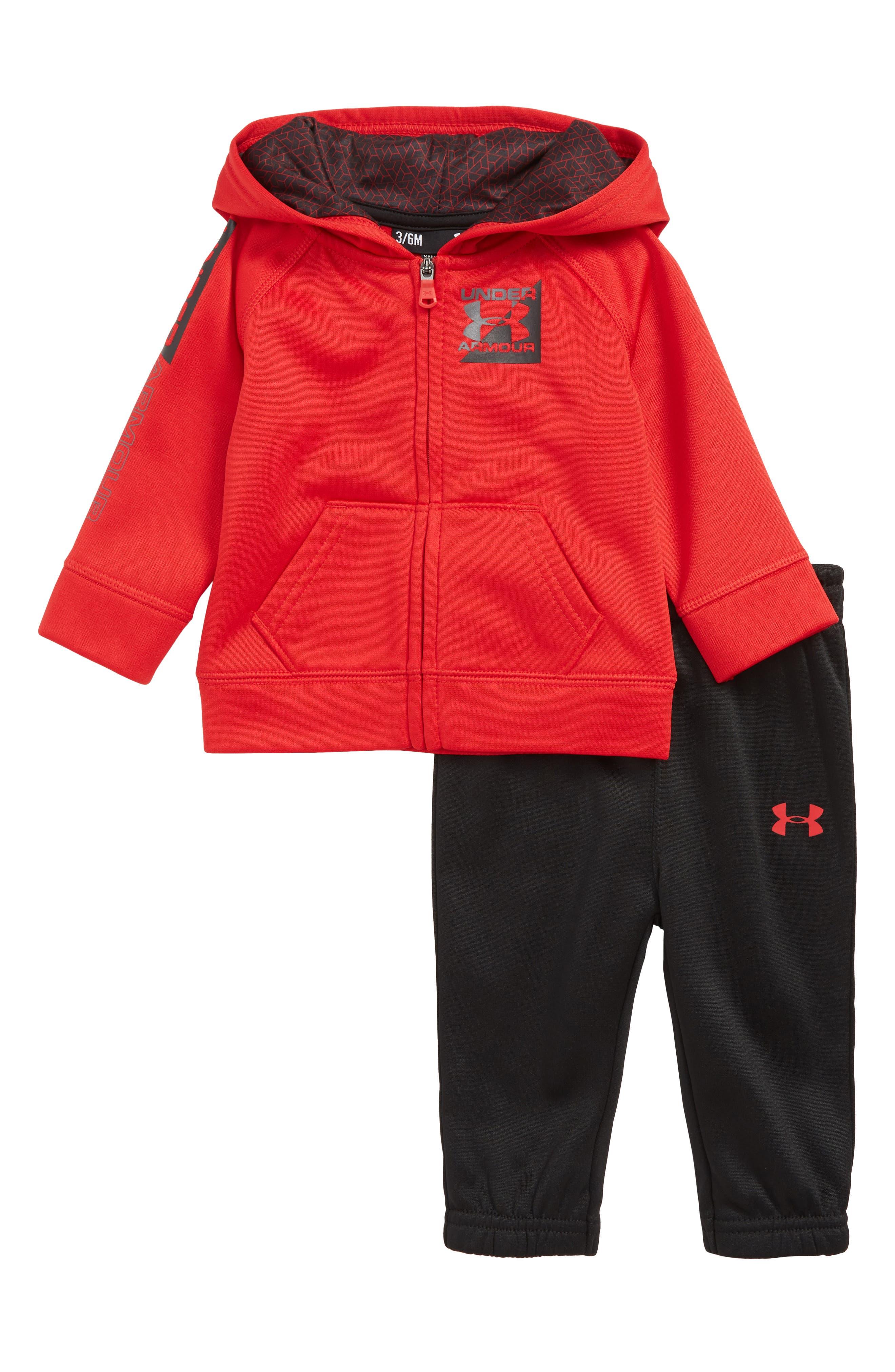 Logo Hoodie & Pants Set,                         Main,                         color, RED