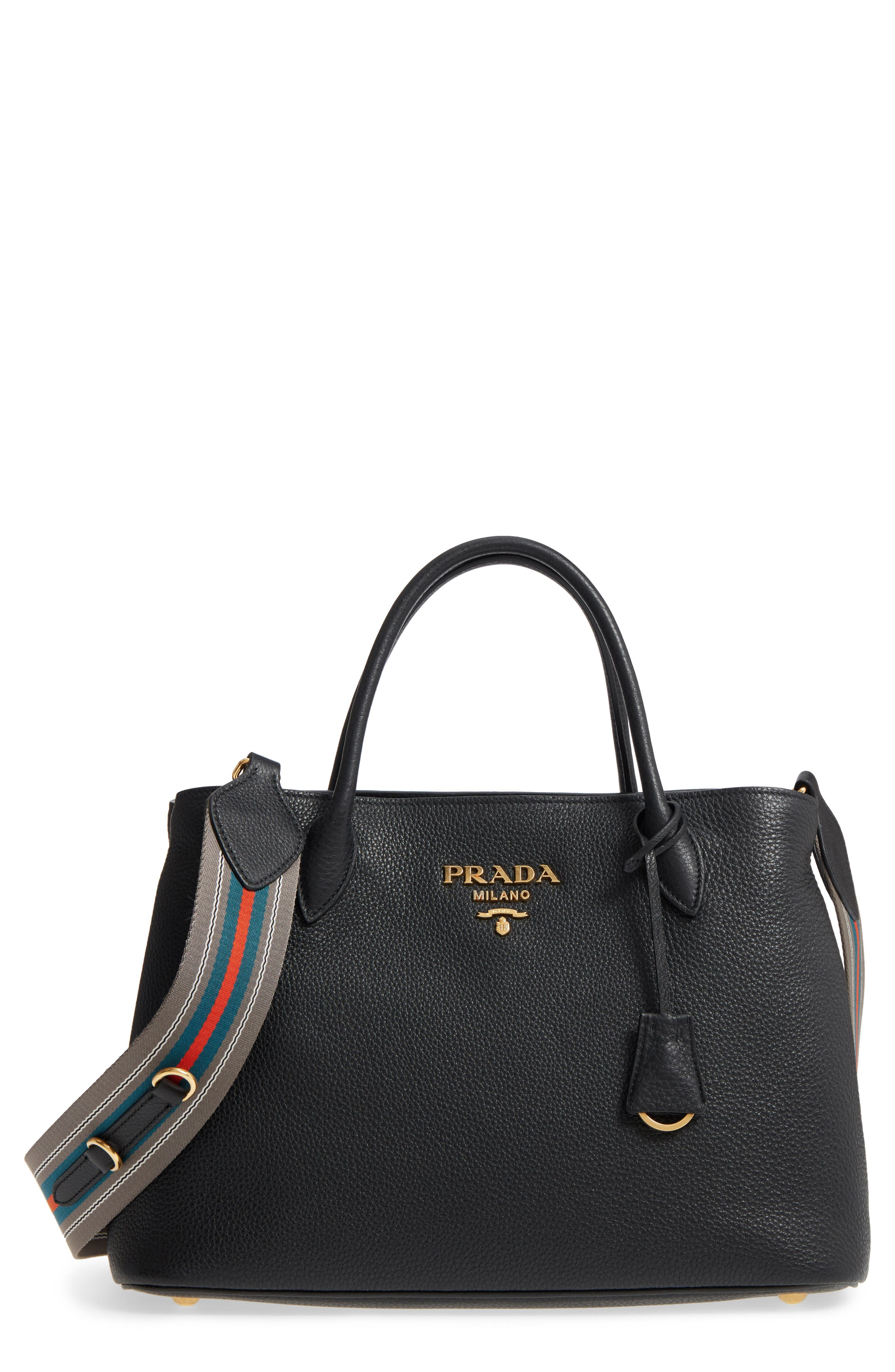 Vit Daino Calfskin Leather Tote,                             Main thumbnail 1, color,                             001