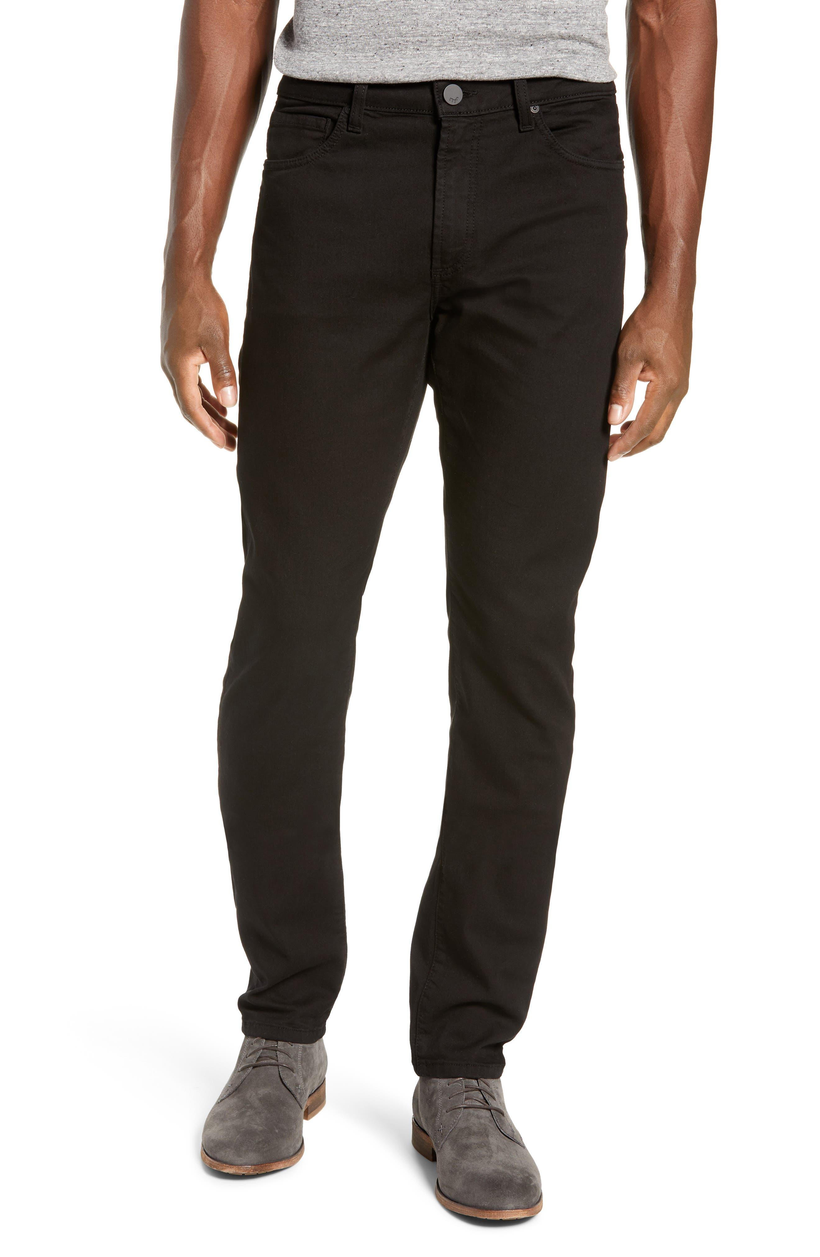 MONFRERE Deniro Slim Straight Leg Jeans in Noir