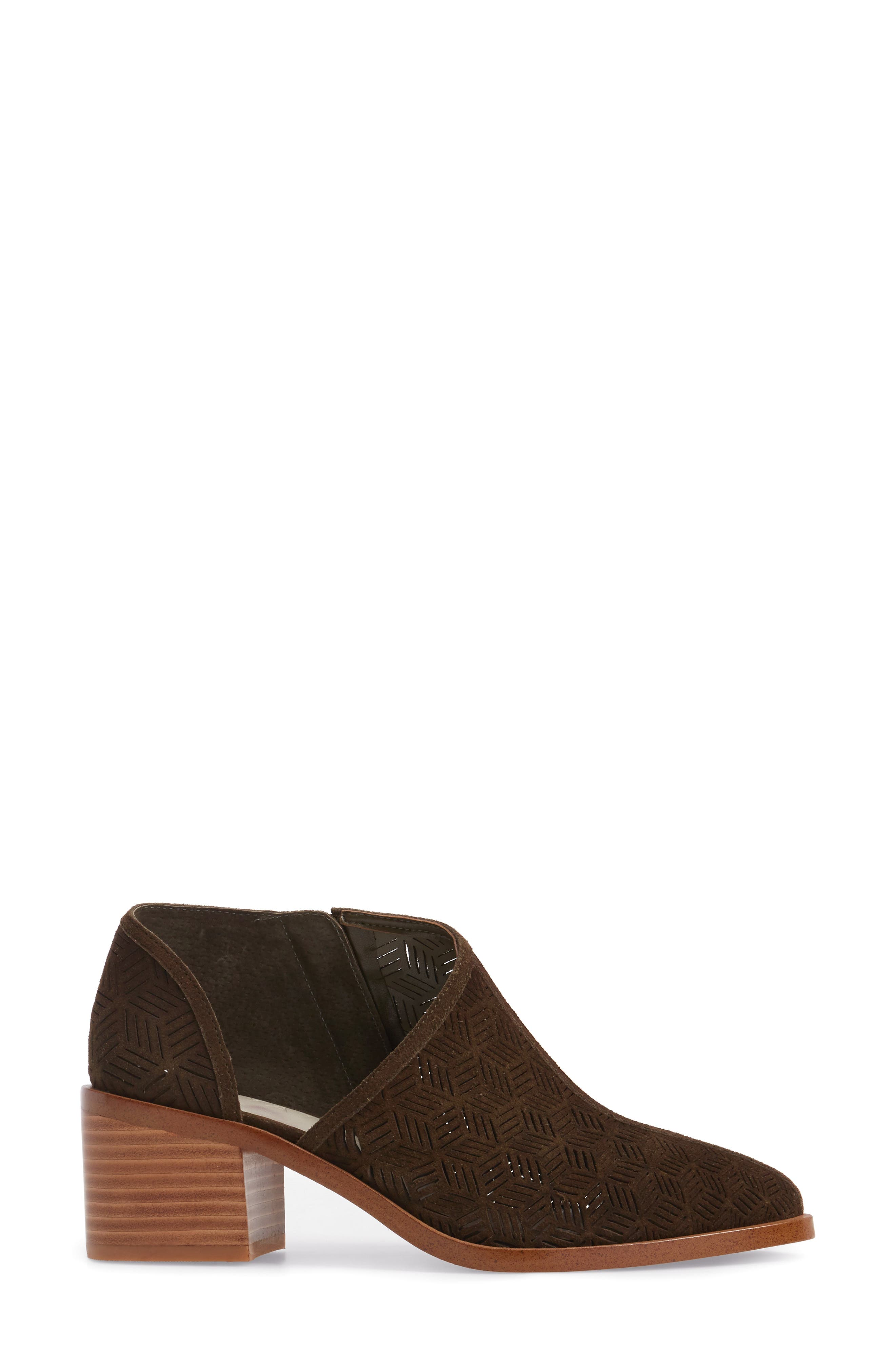 Iddah Perforated Cutaway Bootie,                             Alternate thumbnail 17, color,