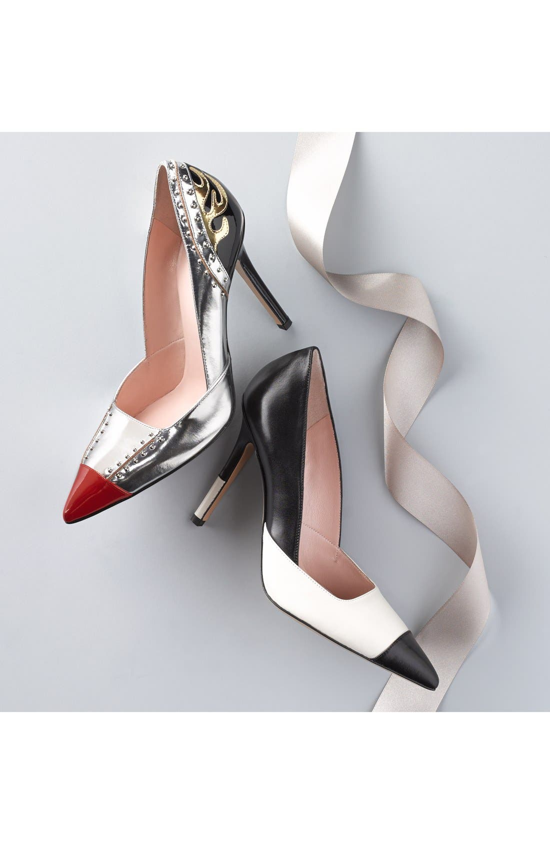 'lunar' pointy toe pump,                             Alternate thumbnail 6, color,                             040