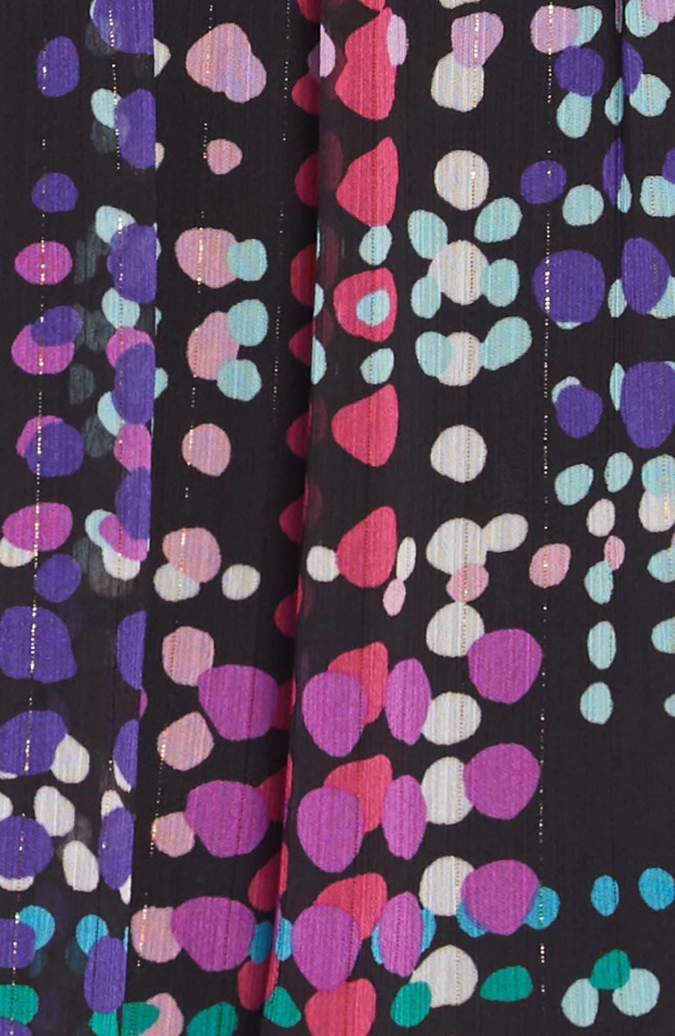 polka dot ruffle dress,                             Alternate thumbnail 3, color,                             DOTTY PLAID