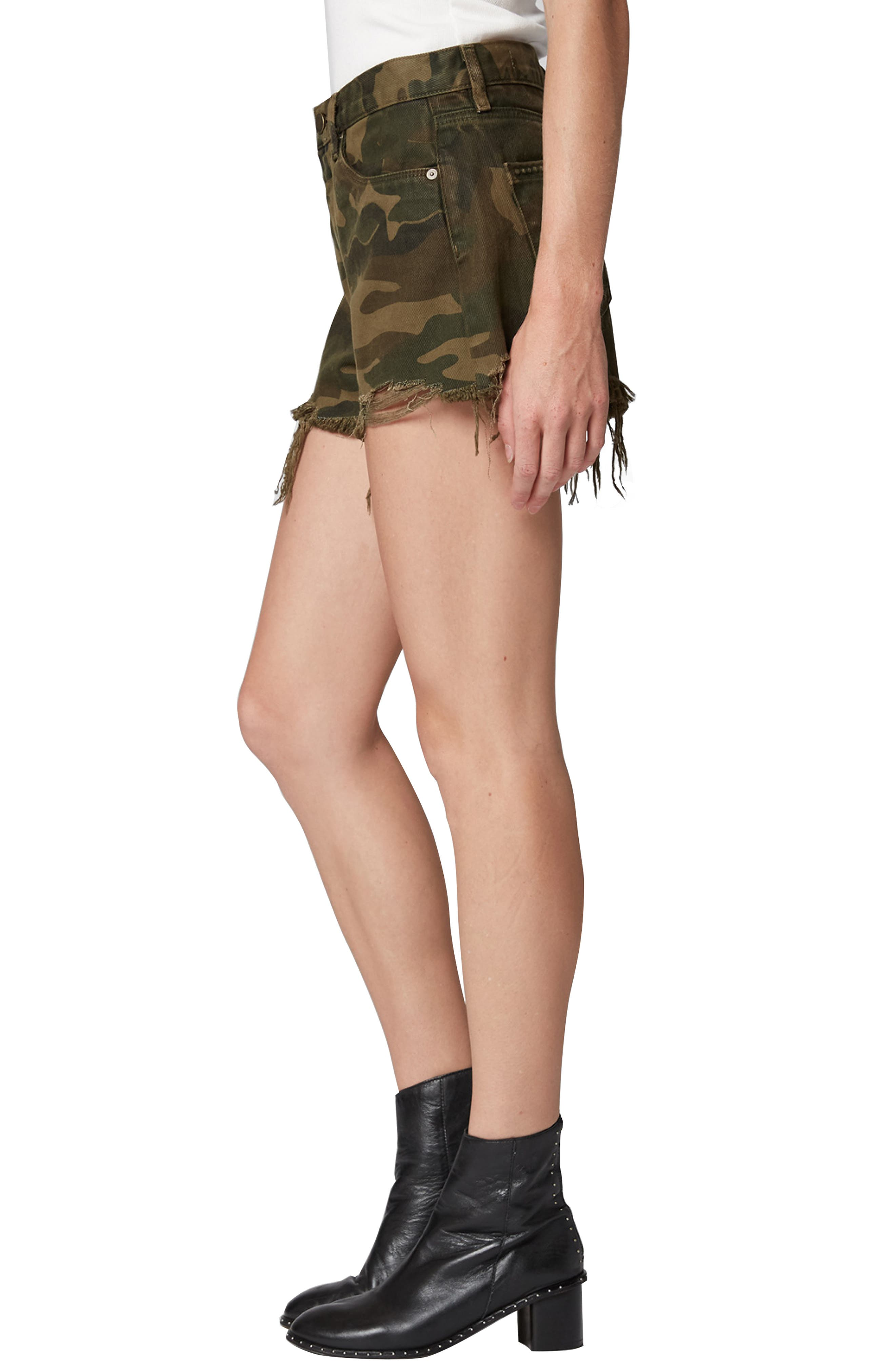 Cutoff Camo Shorts,                             Alternate thumbnail 3, color,                             ARMY OF ONE