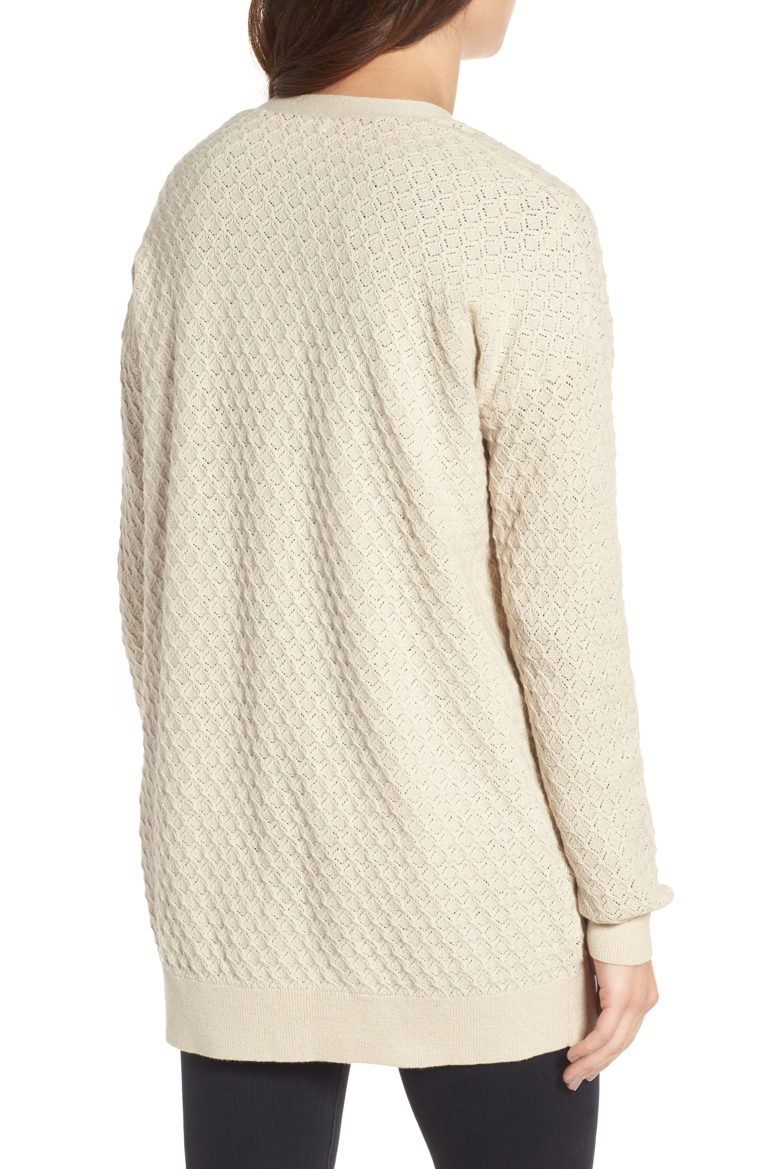 Pointelle Cardigan Sweater,                             Alternate thumbnail 6, color,