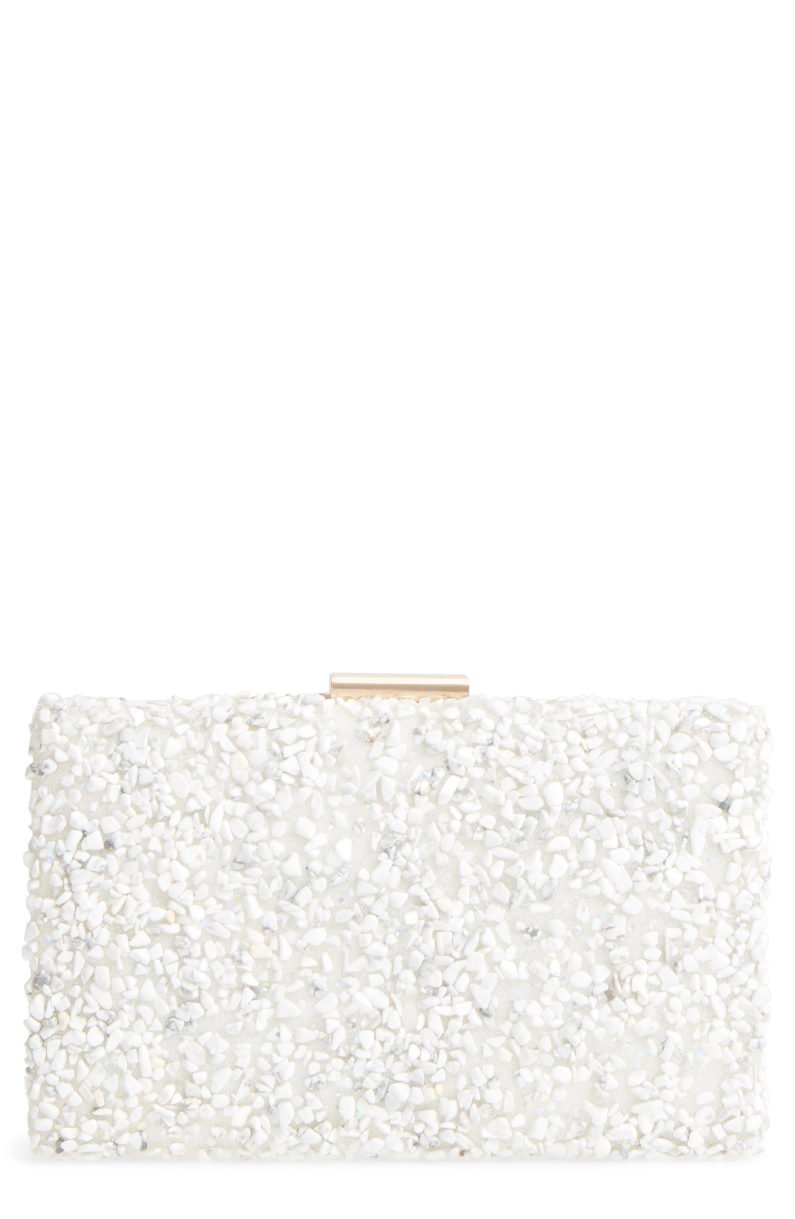 Chips Embellished Box Clutch,                             Main thumbnail 4, color,