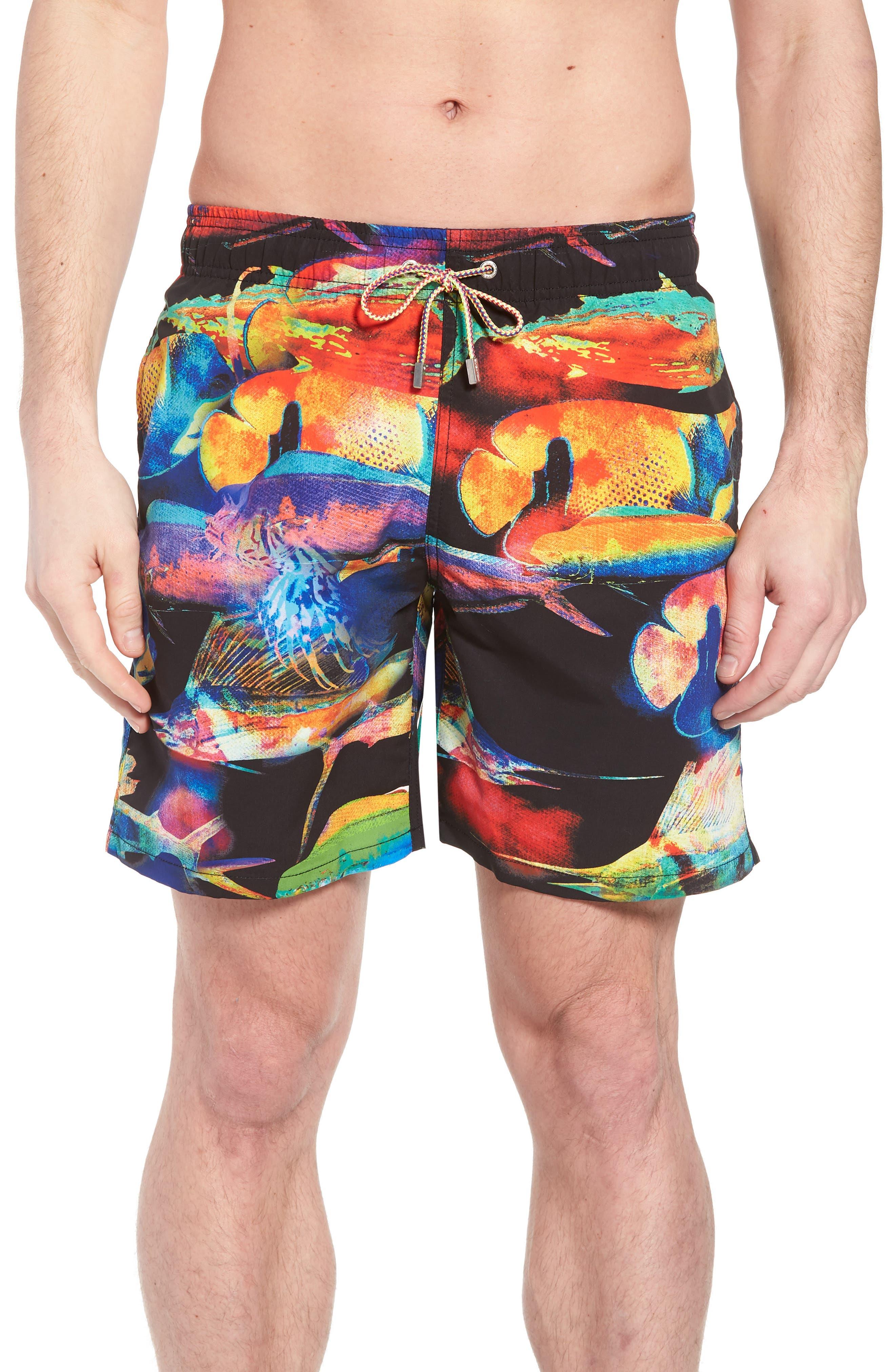 BUGATCHI,                             Swim Trunks,                             Main thumbnail 1, color,                             001