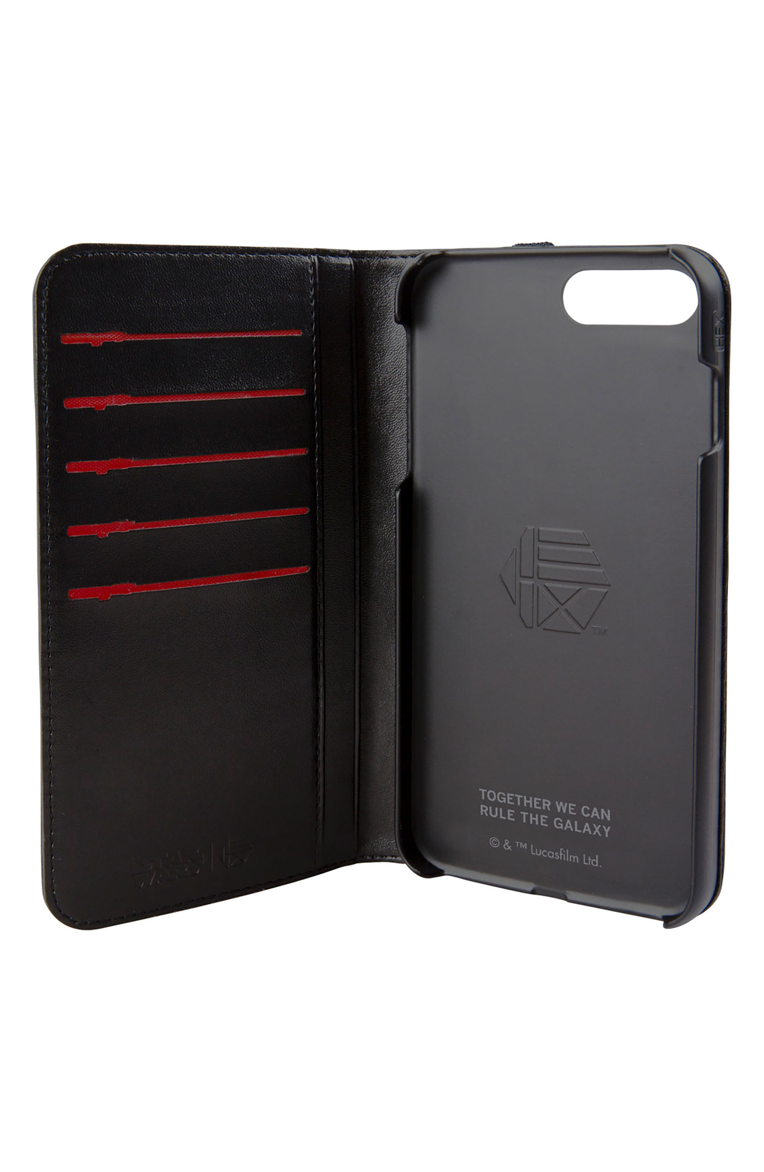 Darth Vader iPhone 8 Plus Wallet Case,                             Alternate thumbnail 2, color,                             004