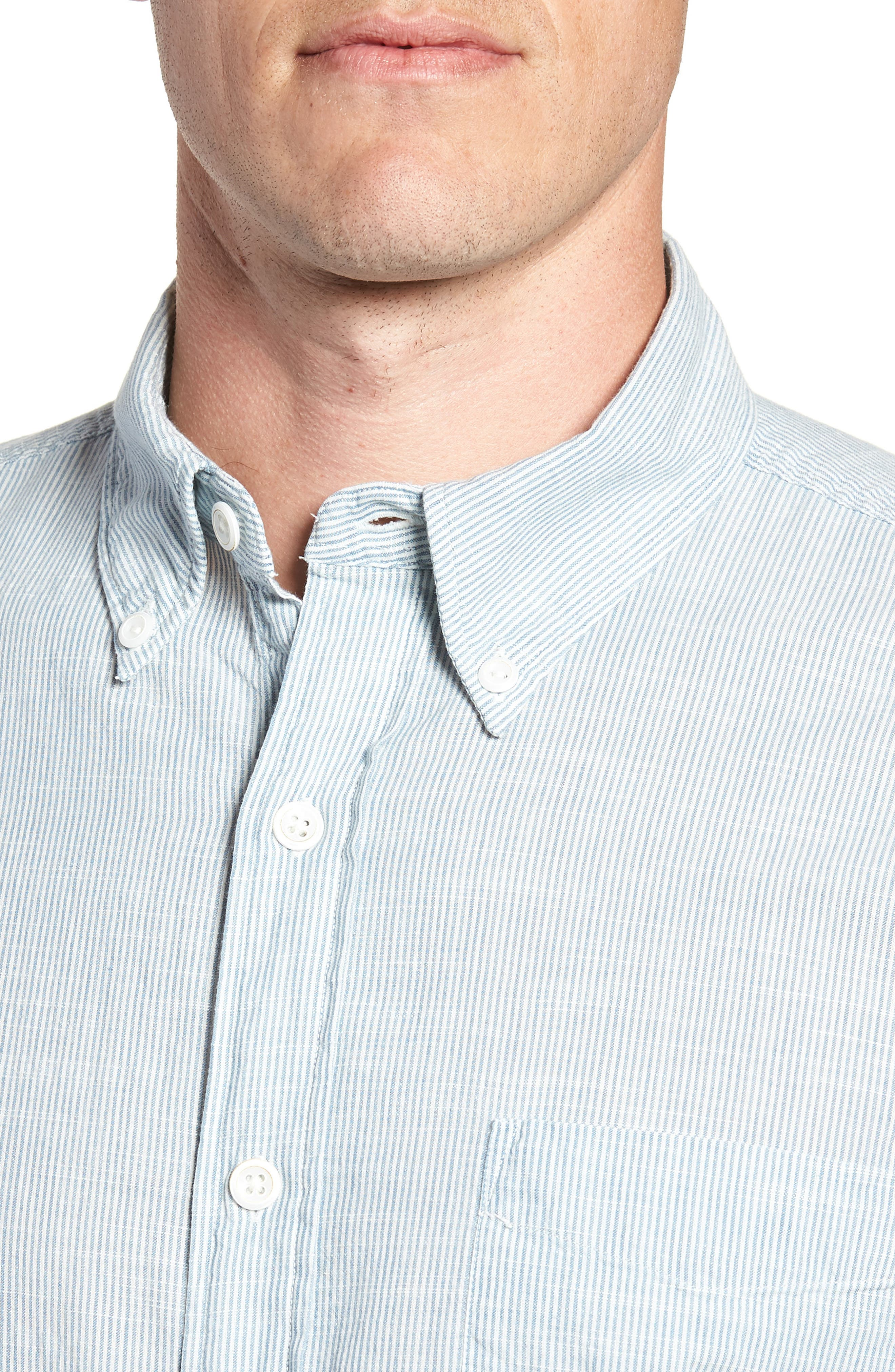 Pacific Pinstripe Sport Shirt,                             Alternate thumbnail 4, color,                             100