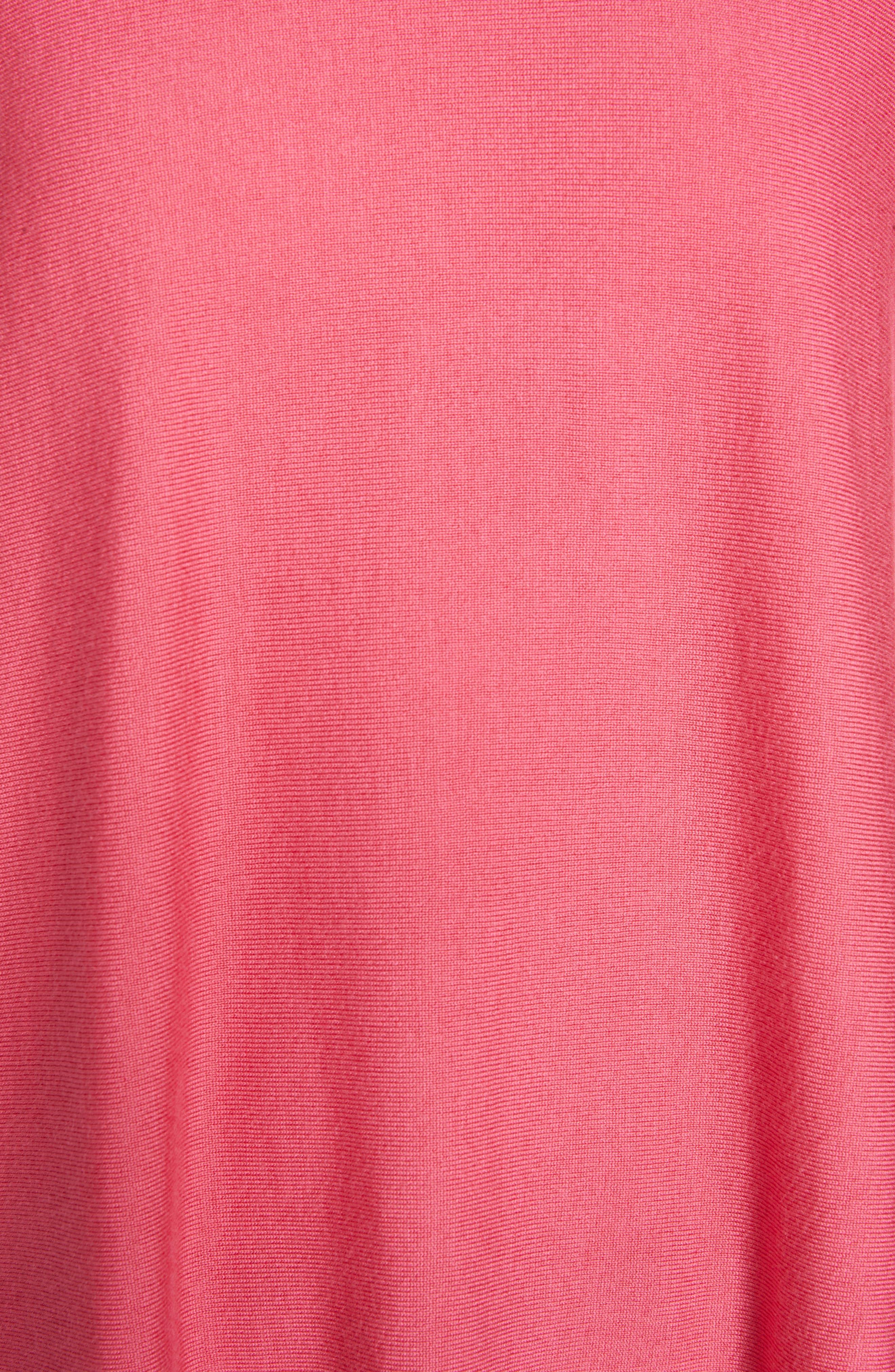 Tencel<sup>®</sup> Lyocell Blend Sweater,                             Alternate thumbnail 5, color,                             CHERRY LANE