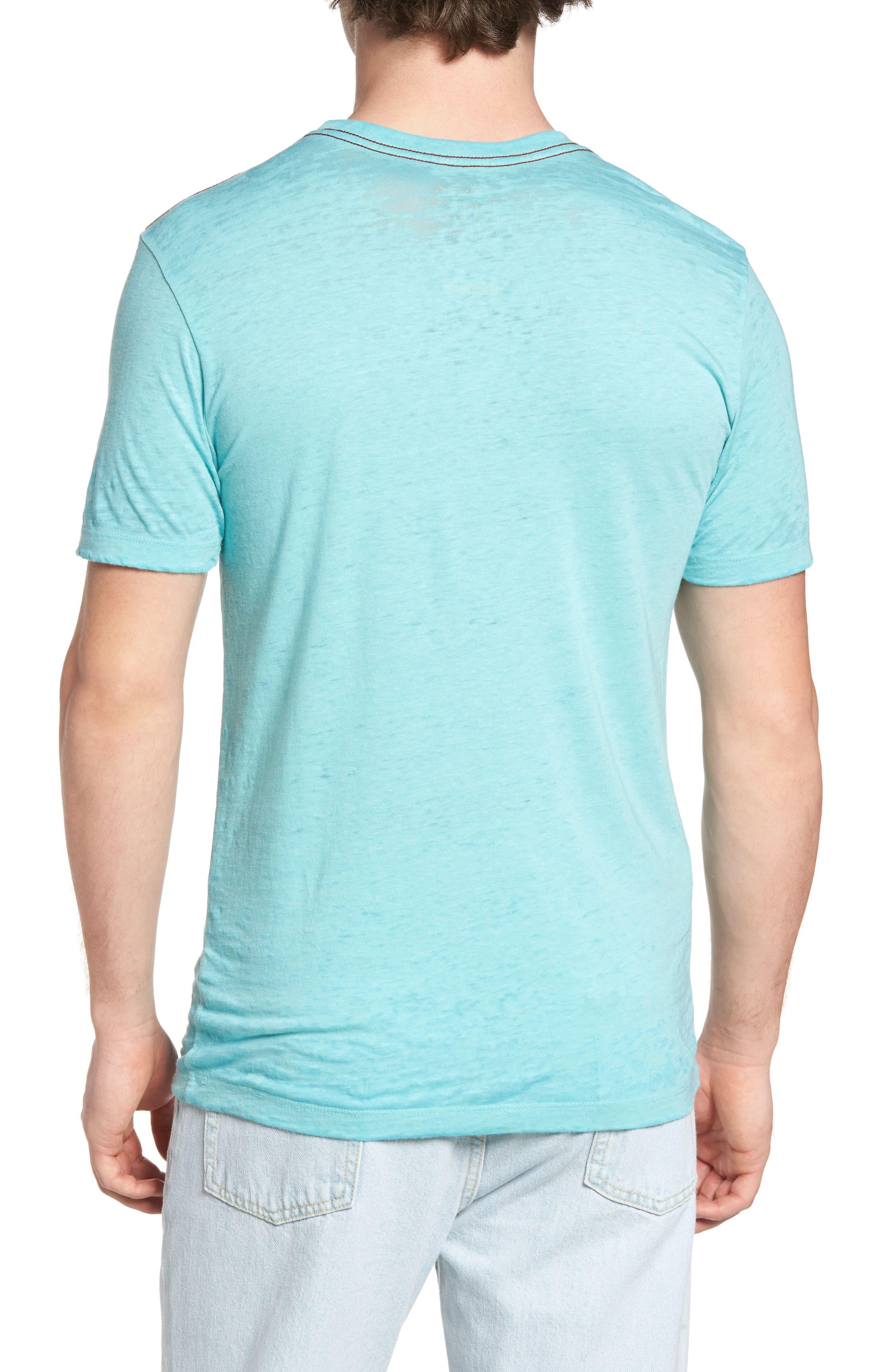 Sage Stripe Floral Graphic T-Shirt,                             Alternate thumbnail 2, color,